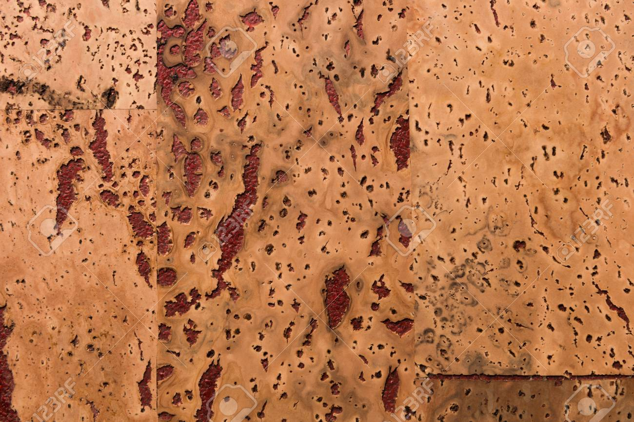Close Up Background and Texture of Cork Board Wood Surface, Nature Product Industrial - 100534612