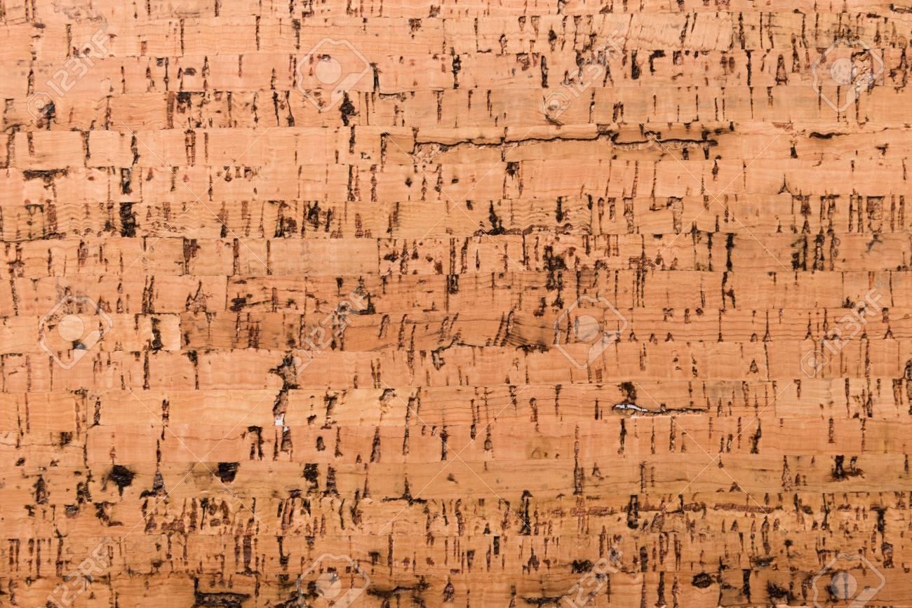 Close Up Background and Texture of Cork Board Wood Surface, Nature Product Industrial - 100534693