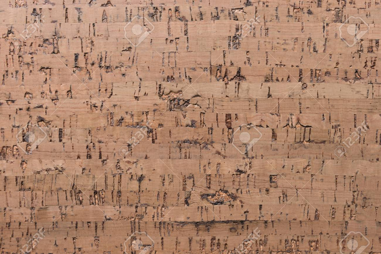 Close Up Background and Texture of Cork Board Wood Surface, Nature Product Industrial - 100534704