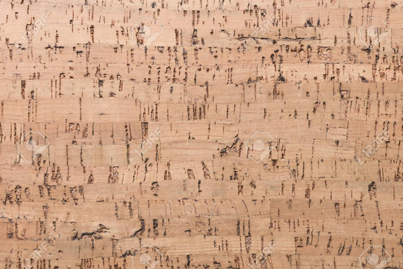 Close Up Background and Texture of Cork Board Wood Surface, Nature Product Industrial - 100534706