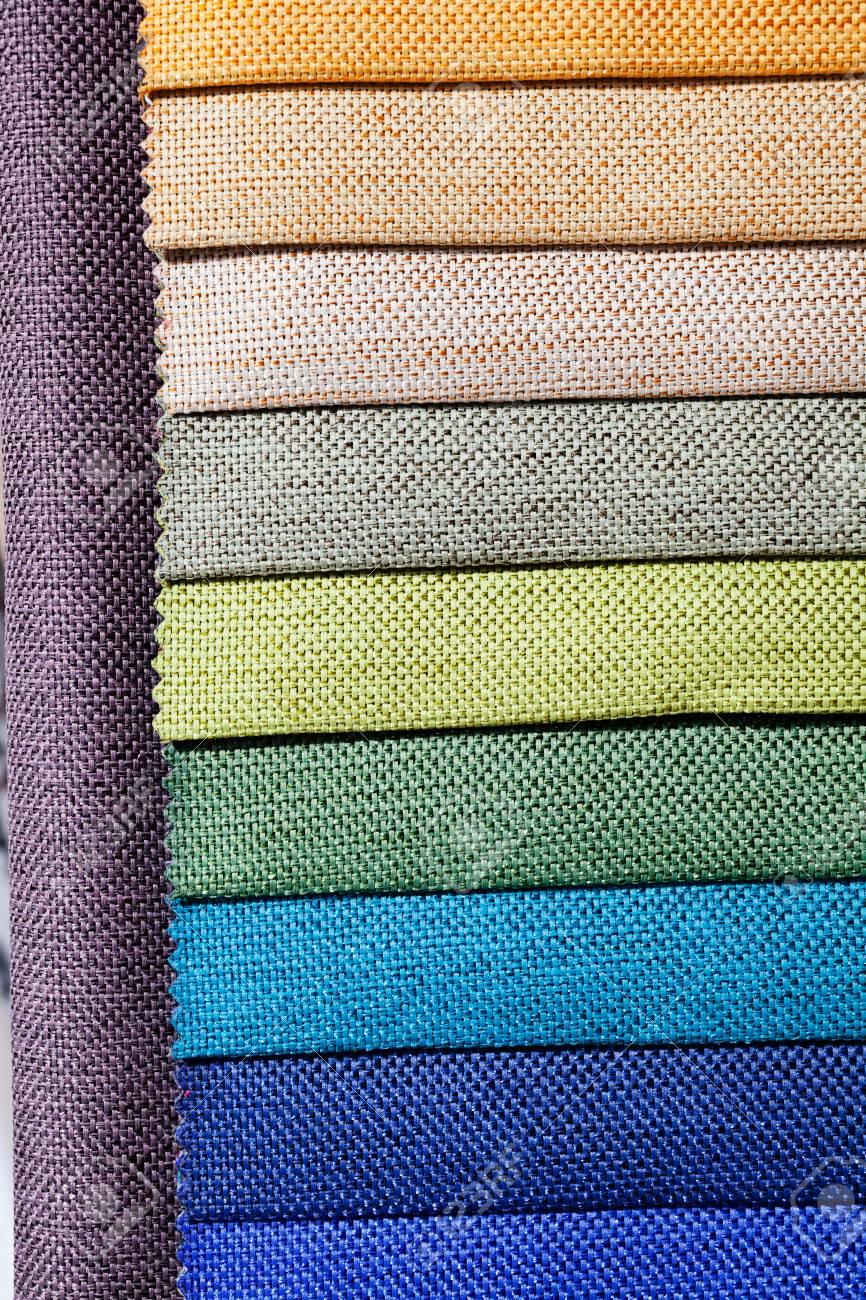 1ee302a81 Foto de archivo - Muestras de telas de tapicería para muebles de  revestimiento