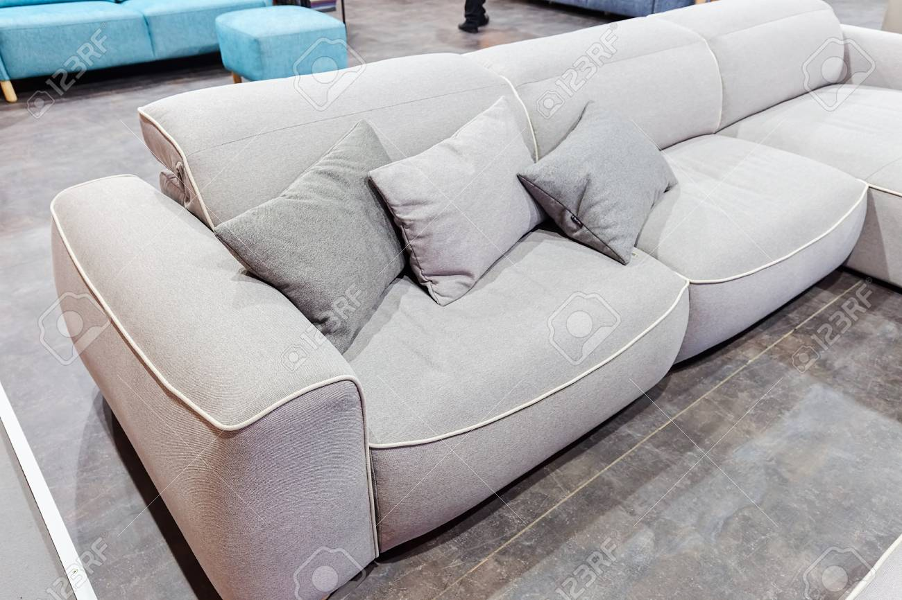 Ordinaire Modern Sofa For The Living Room, Note Shallow Depth Of Field Stock Photo    86439826