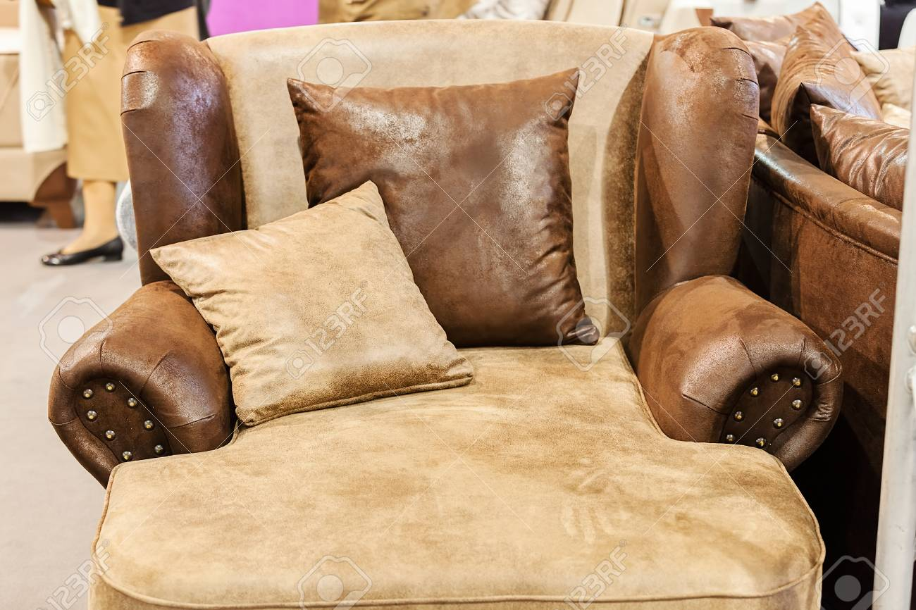 Modern Sofa For The Living Room, Note Shallow Depth Of Field Stock Photo    86365029