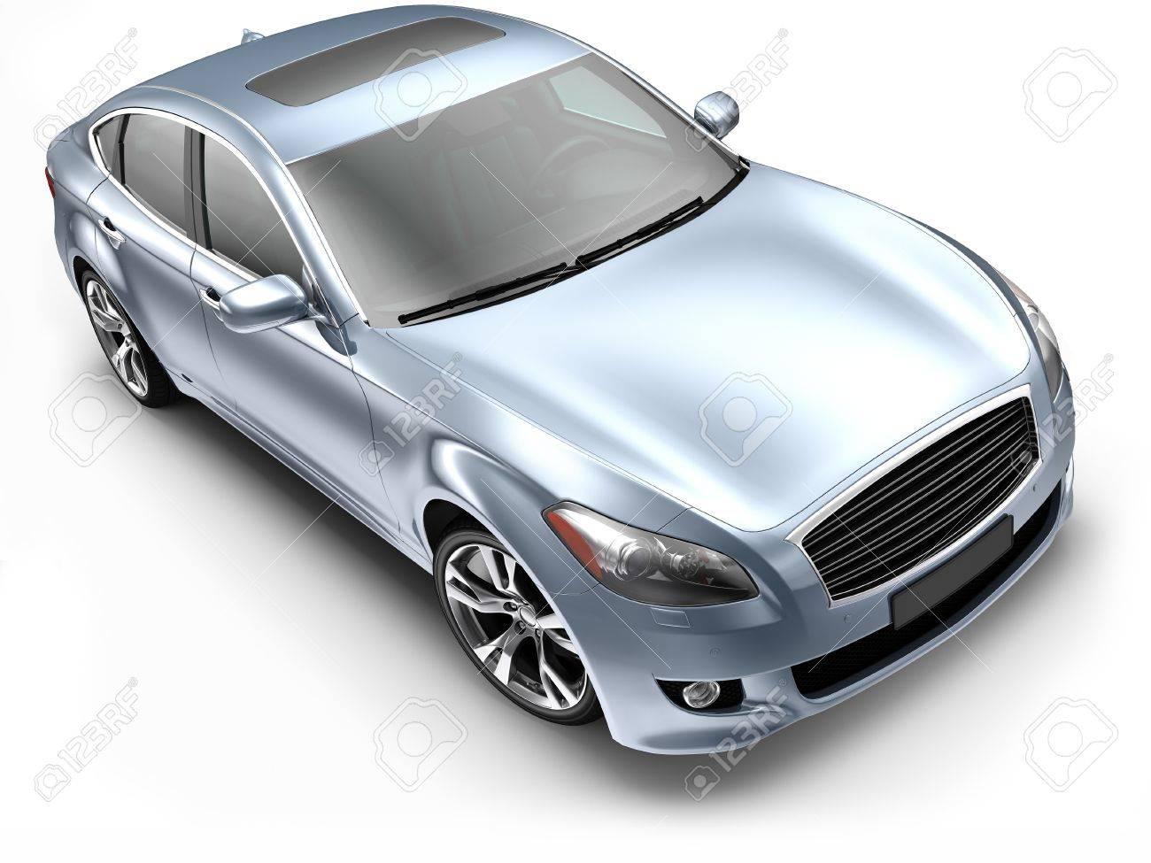 Blue luxury CAR Stock Photo - 14760028