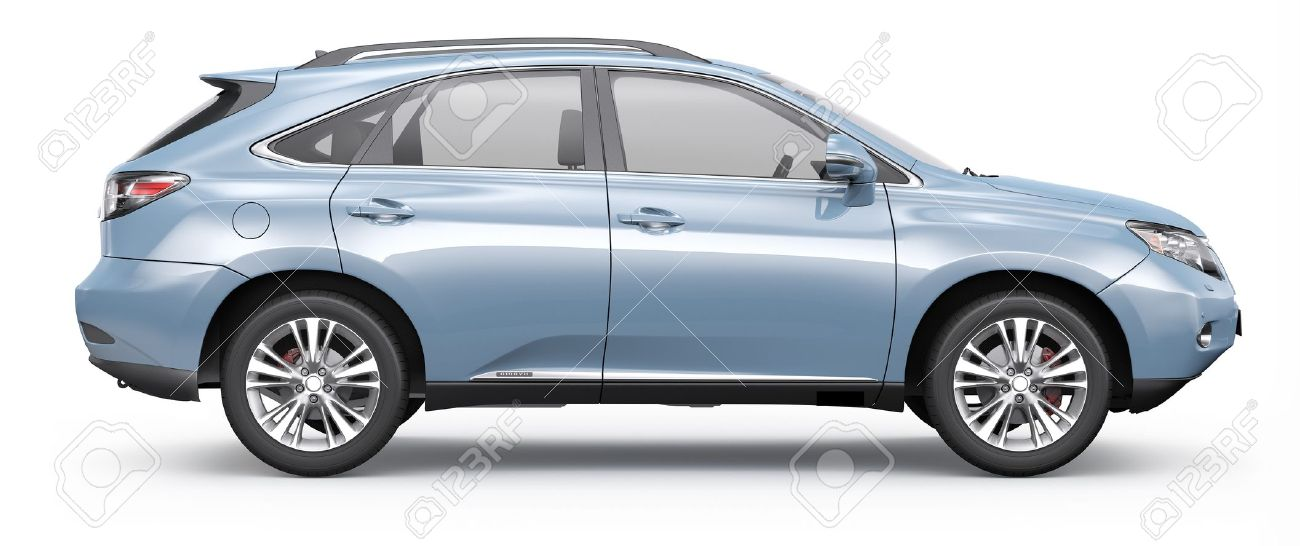 Blue Suv Car Side View Stock Photo Picture And Royalty Free Image