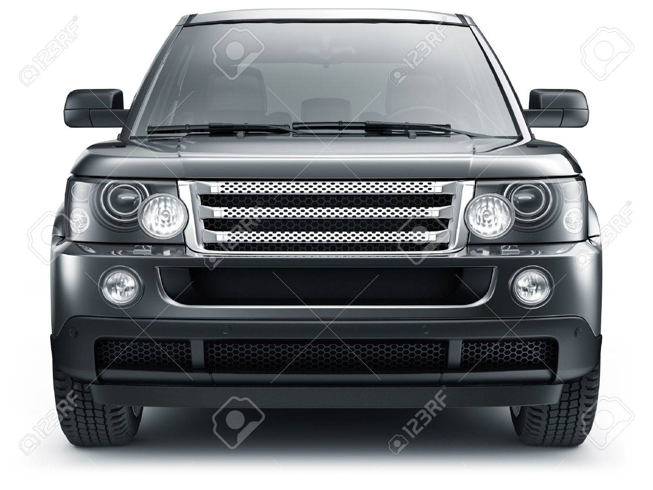 Front View Of Suv Car Stock Photo Picture And Royalty Free Image