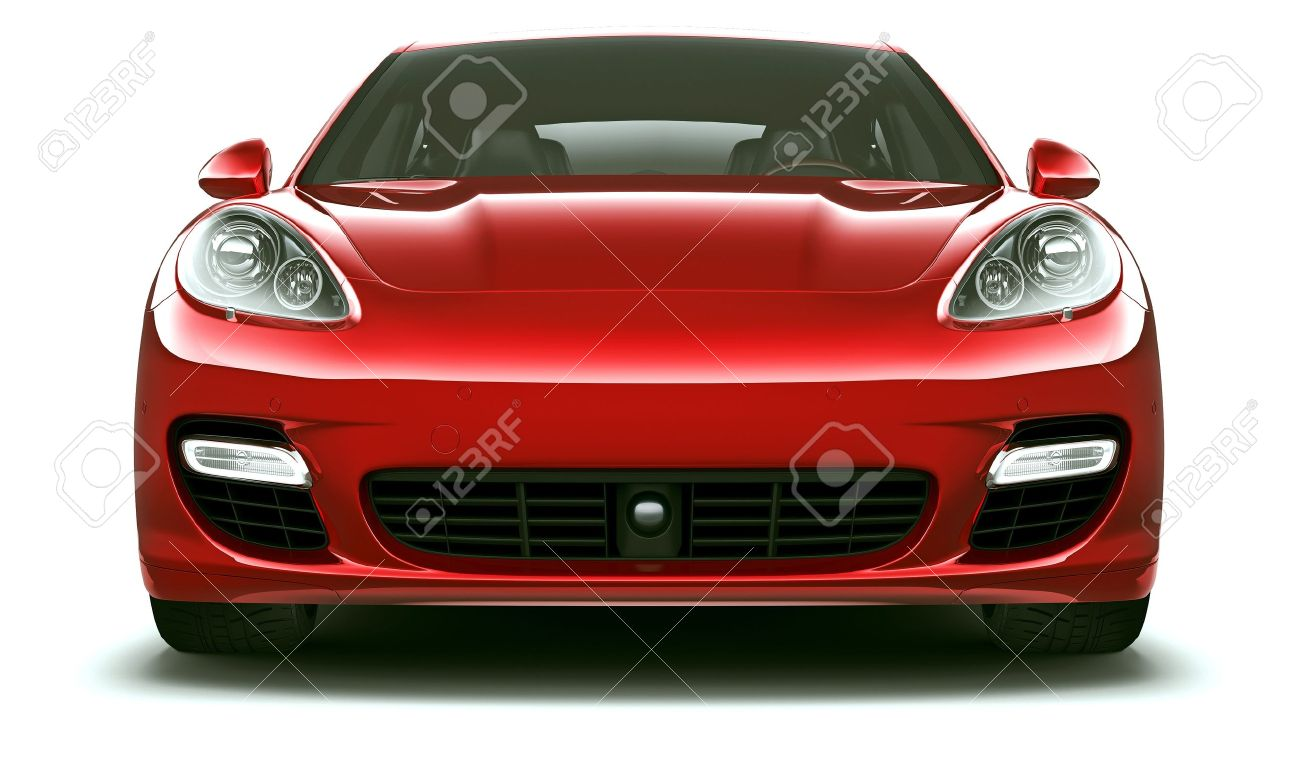 Front view of red luxury car Stock Photo - 15635520