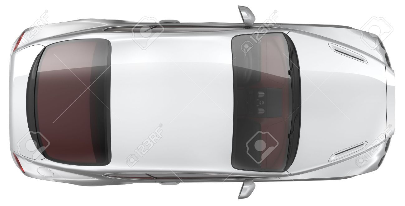 Luxury sports coupe car - Top view Stock Photo - 19087094