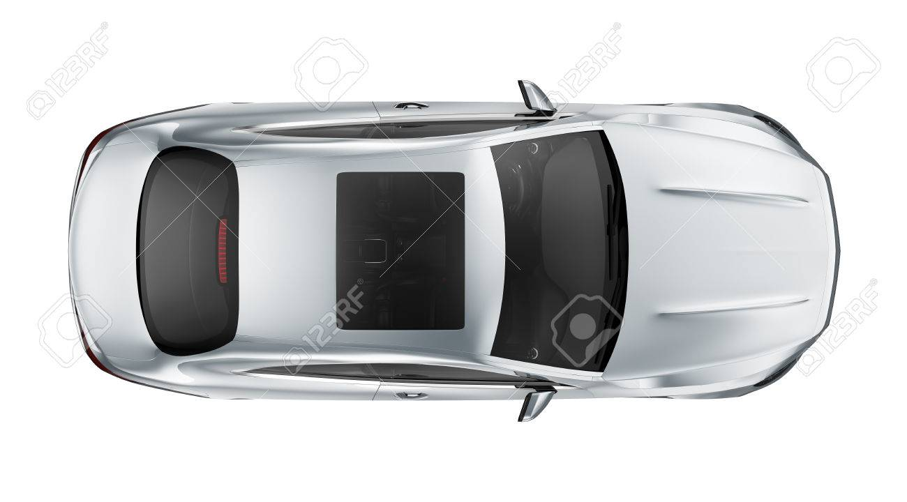 Sport Coupe Car Top View