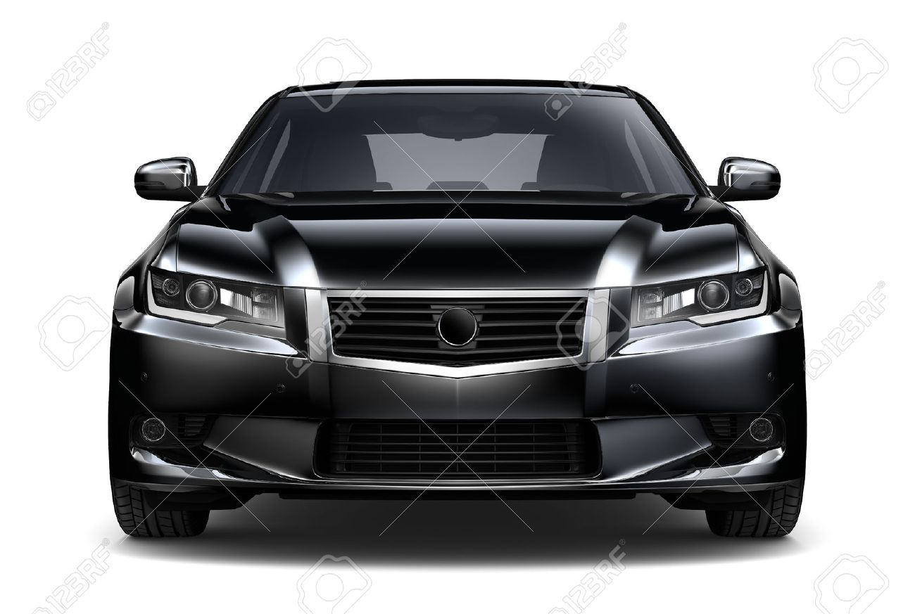 Black Car Front View Stock Photo Picture And Royalty Free Image