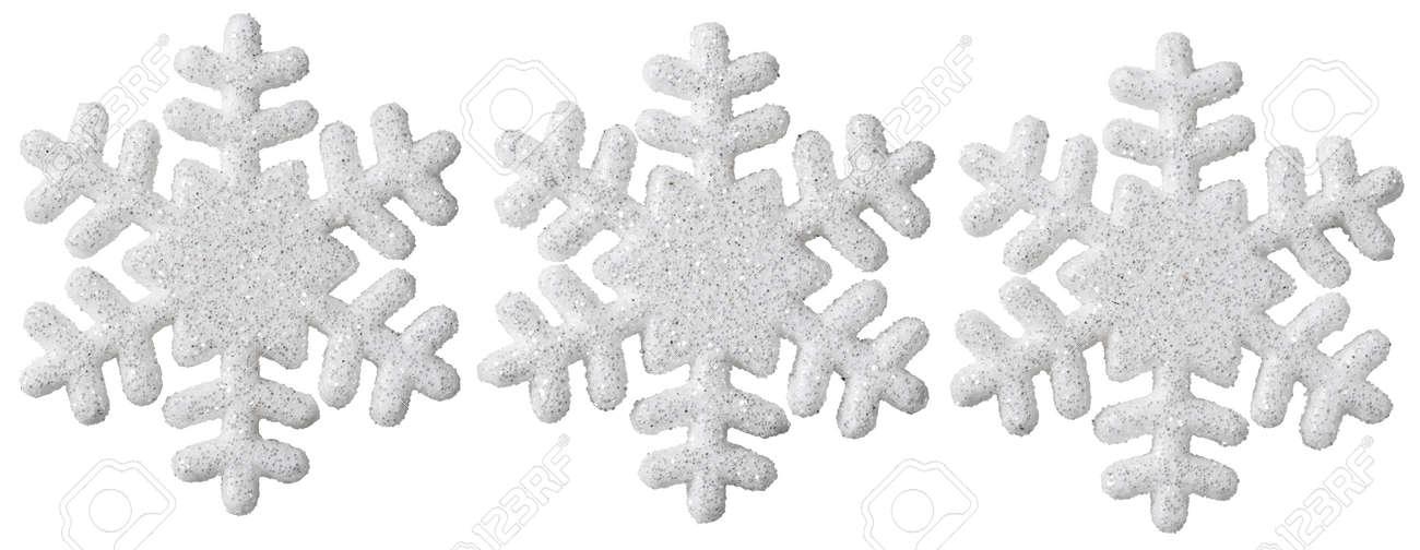 Schneeflocke Weihnachtsdekoration, Weiß Isoliert Weihnachten Schnee ...