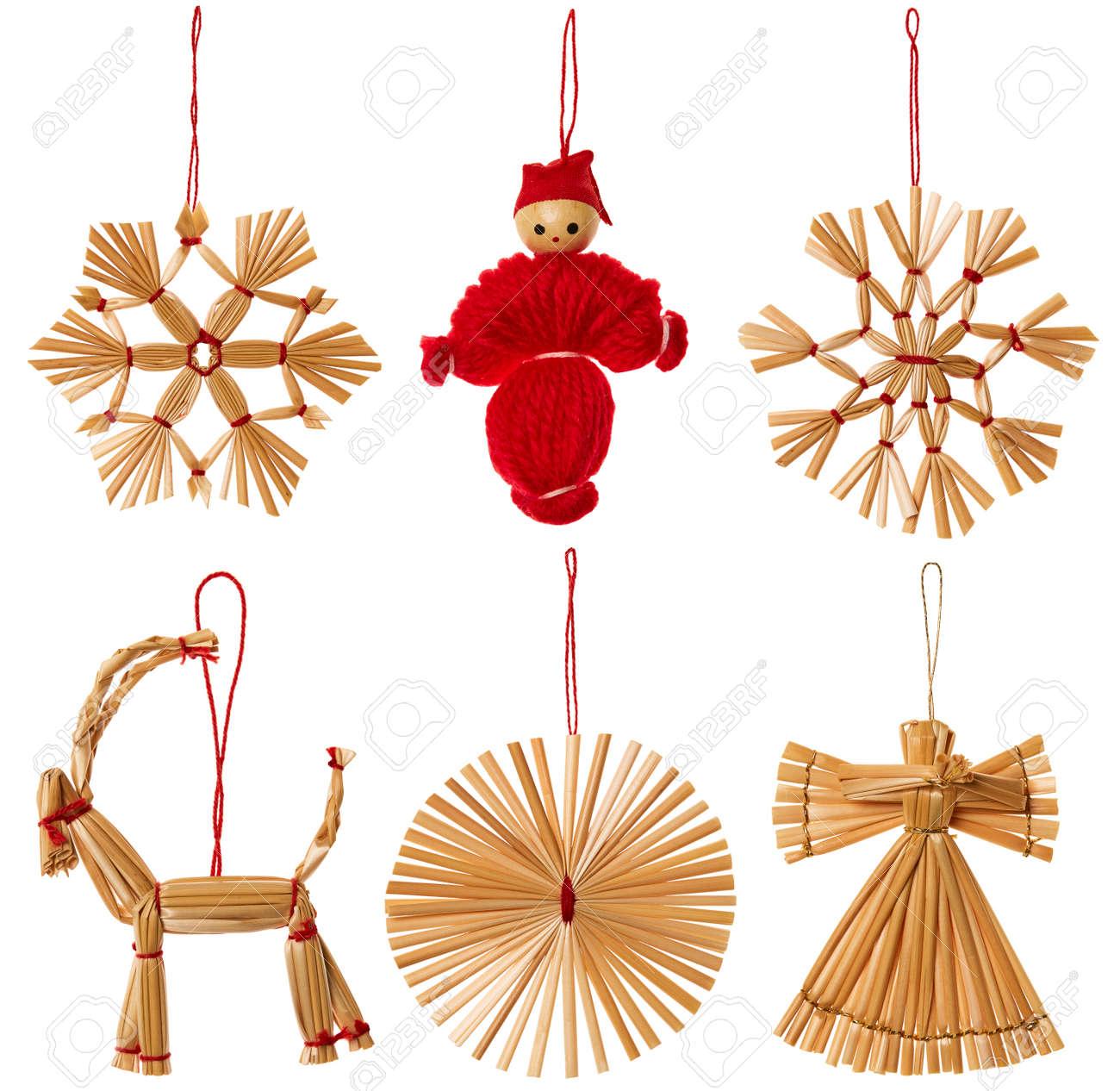 Weihnachtsstroh-hängende Dekoration, Weihnachten Strawy-Spielwaren ...