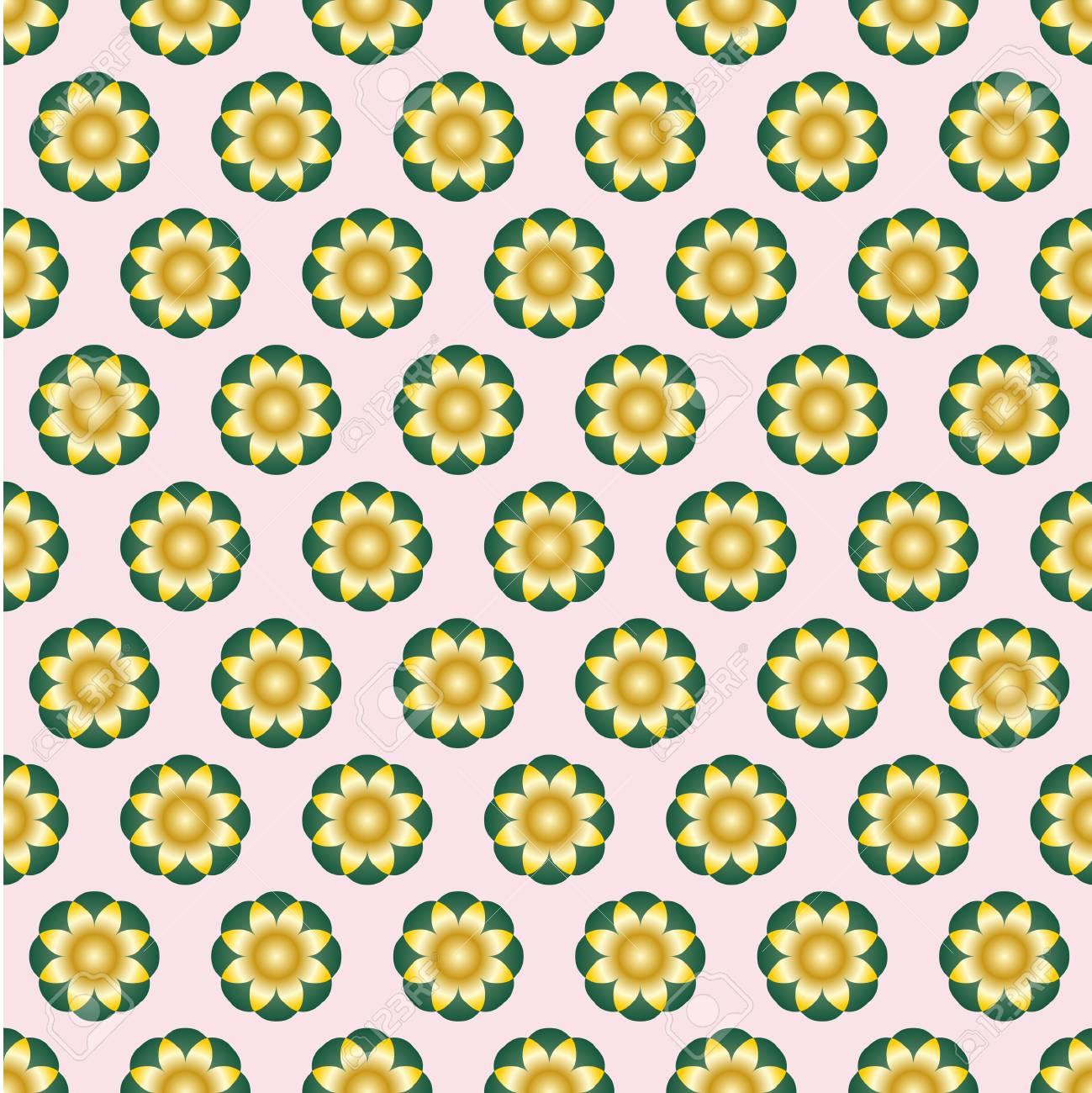 Vettoriale Forme Simmetriche Giallo Sfumato Su Sfondo Rosa Chiaro