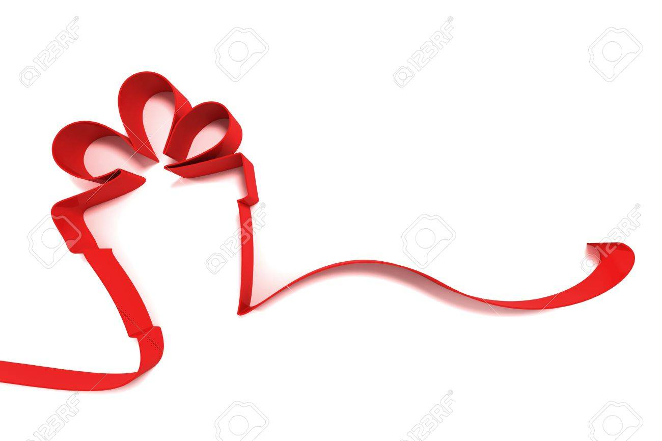 abstract gift from ribbons isolated on white background Stock Photo - 13780530