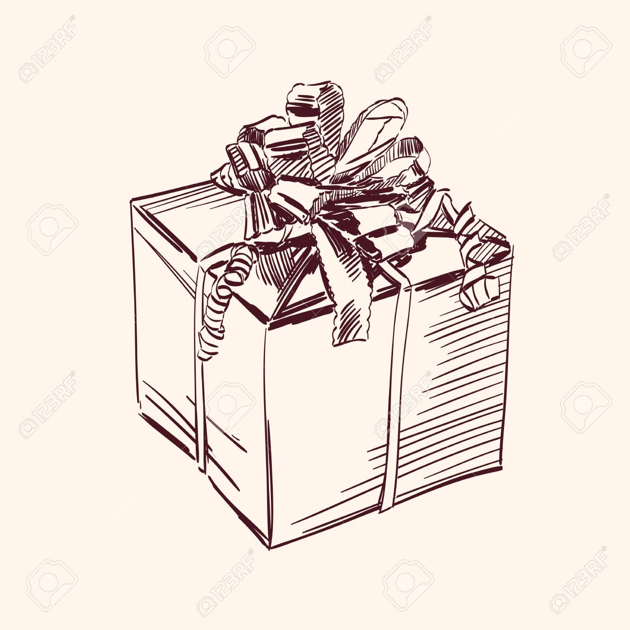 Vintage gift box illustration Stock Vector - 14259560