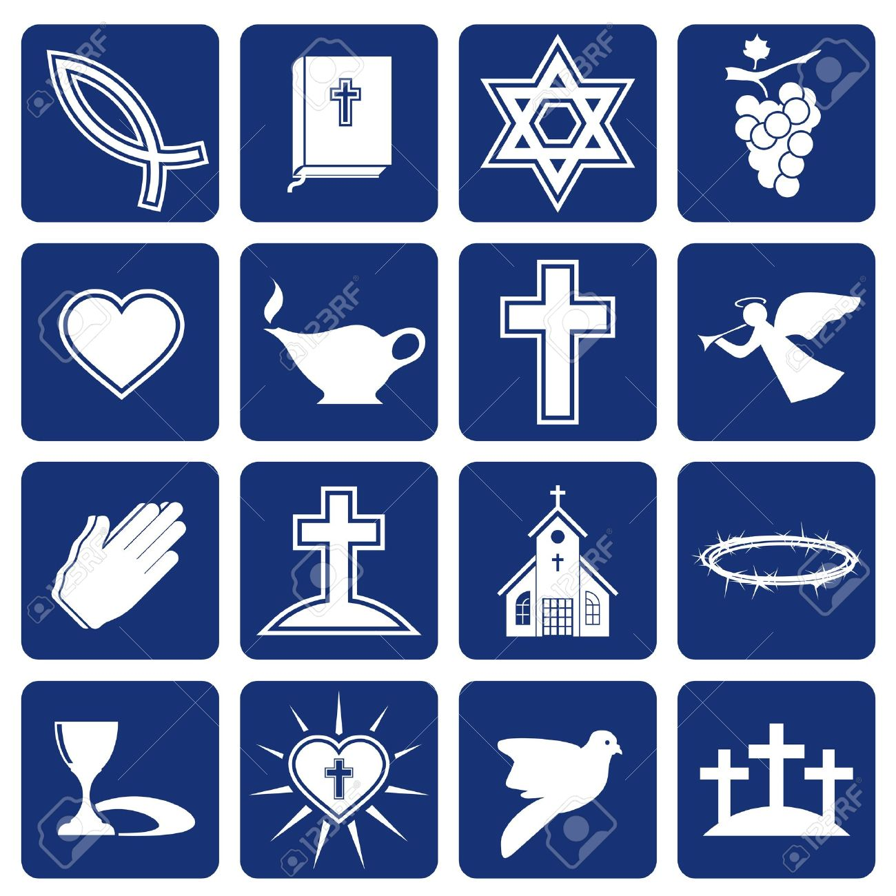 set of icons of religious christianity - 15194284