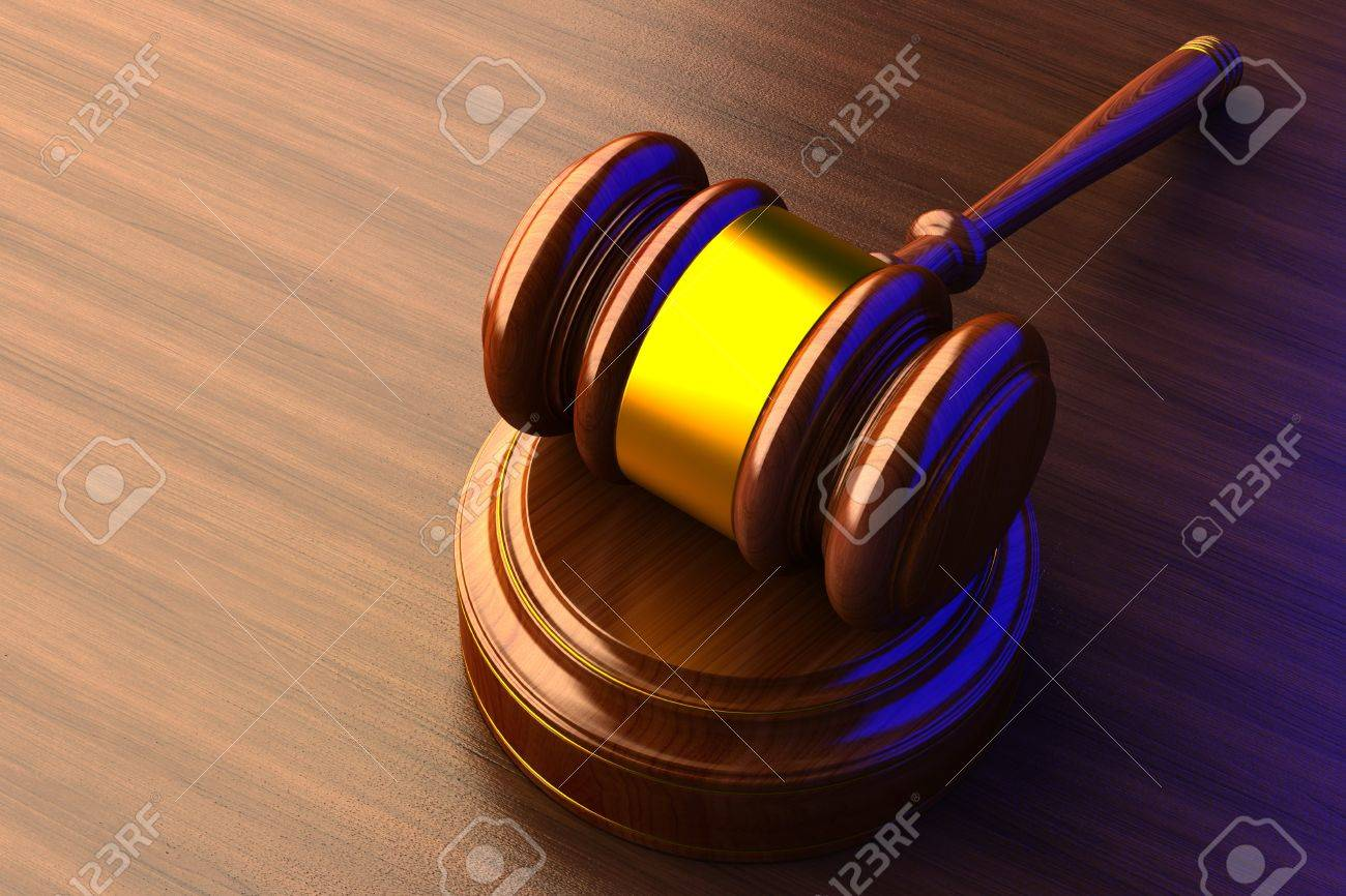 judges gavel a wooden background Stock Photo - 17550287