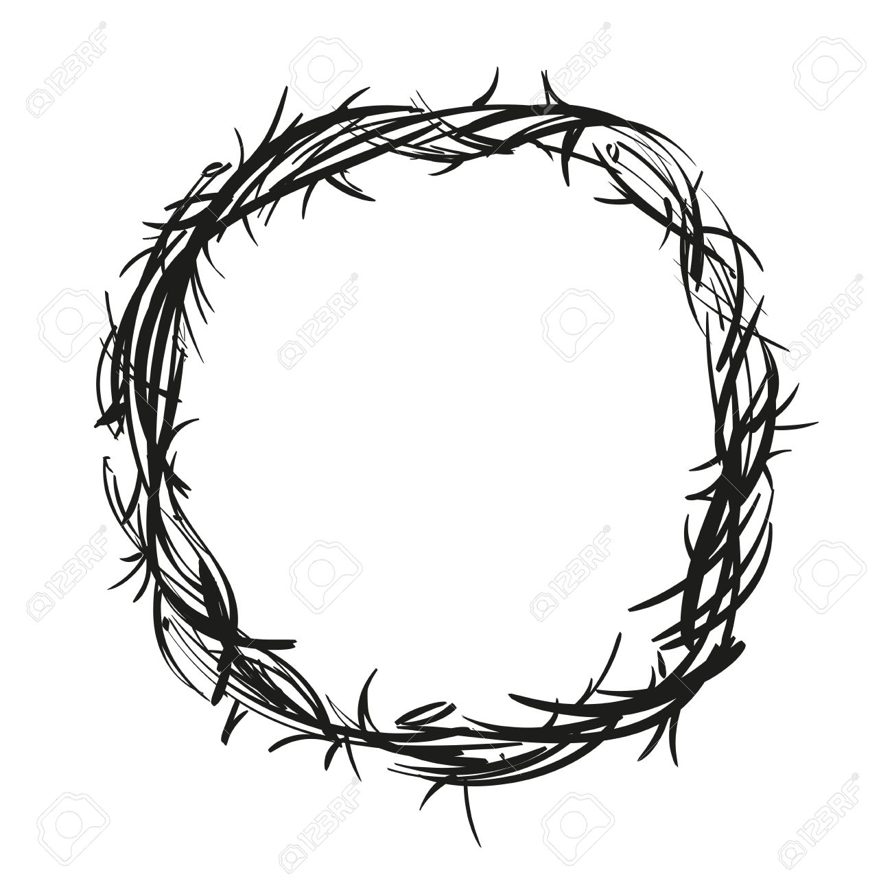 crown of thorns royalty free cliparts vectors and stock rh 123rf com crown of thorns vector image Crown of Thorns Clip Art