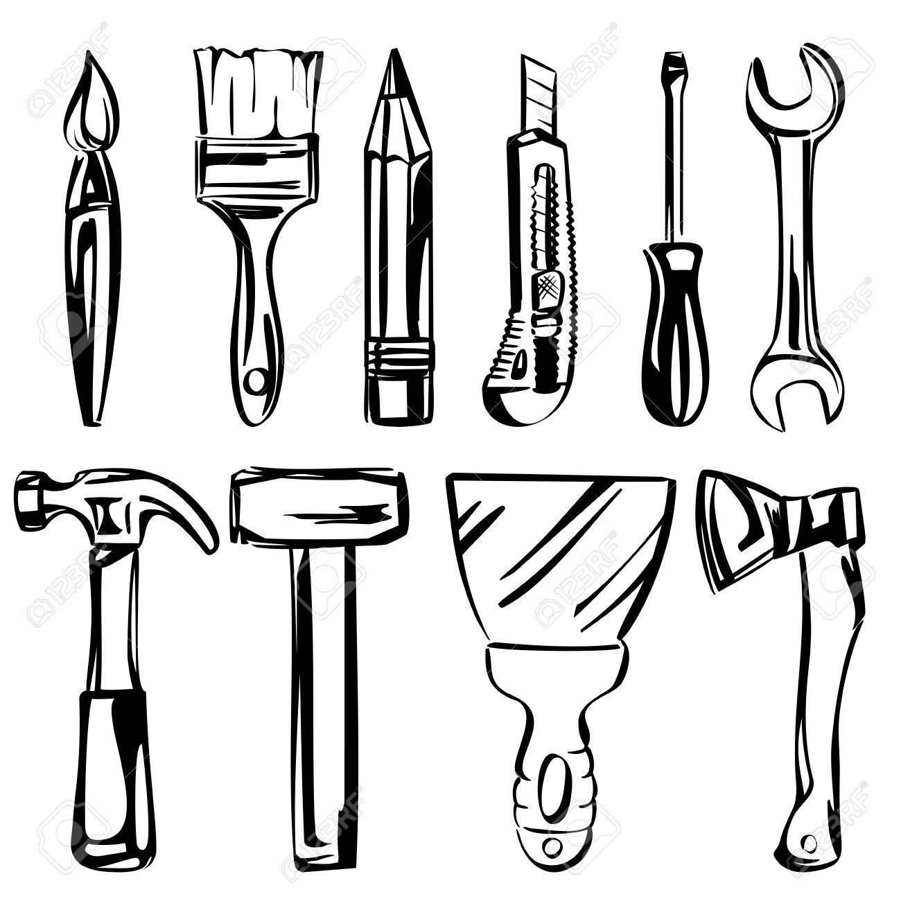 tools vector set Stock Vector - 18244401