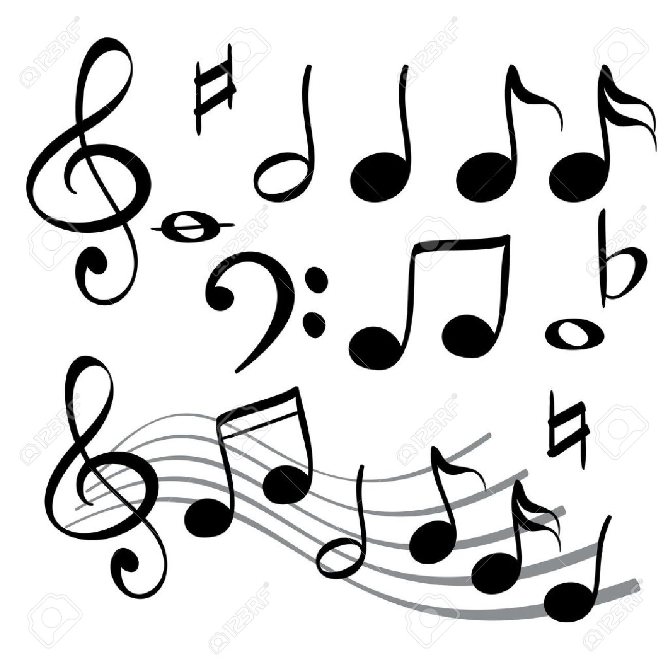 music note icon vector illustration royalty free cliparts vectors