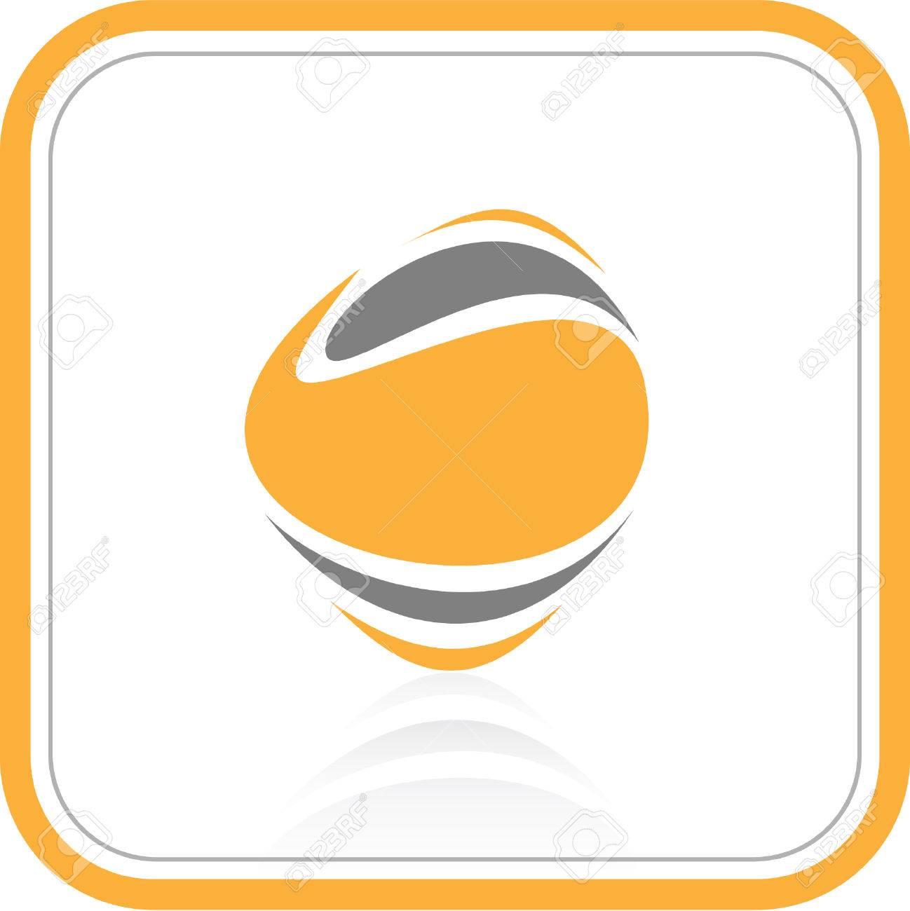 Vector abstract internet icon. Orange set. Simply change. Stock Vector - 3256517