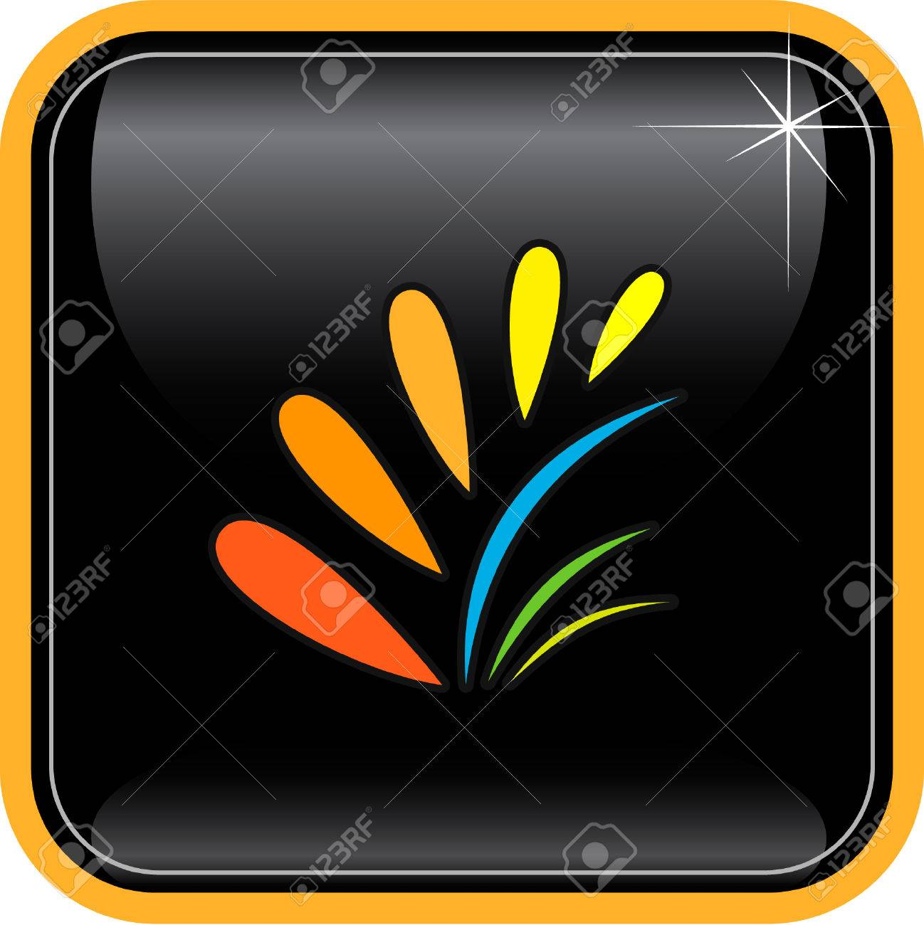 Vector abstract internet icon. Orange set. Simply change. Other abstract icons you can see in my portfolio. Stock Vector - 4062447