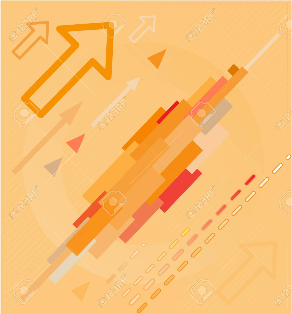 Abstract high-tech background. Orange set. Simply change. Stock Vector - 4311914