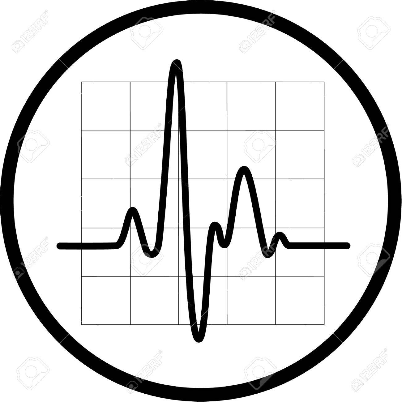Vector cardiogram icon. Black and white. Simply change. Stock Vector - 4311905