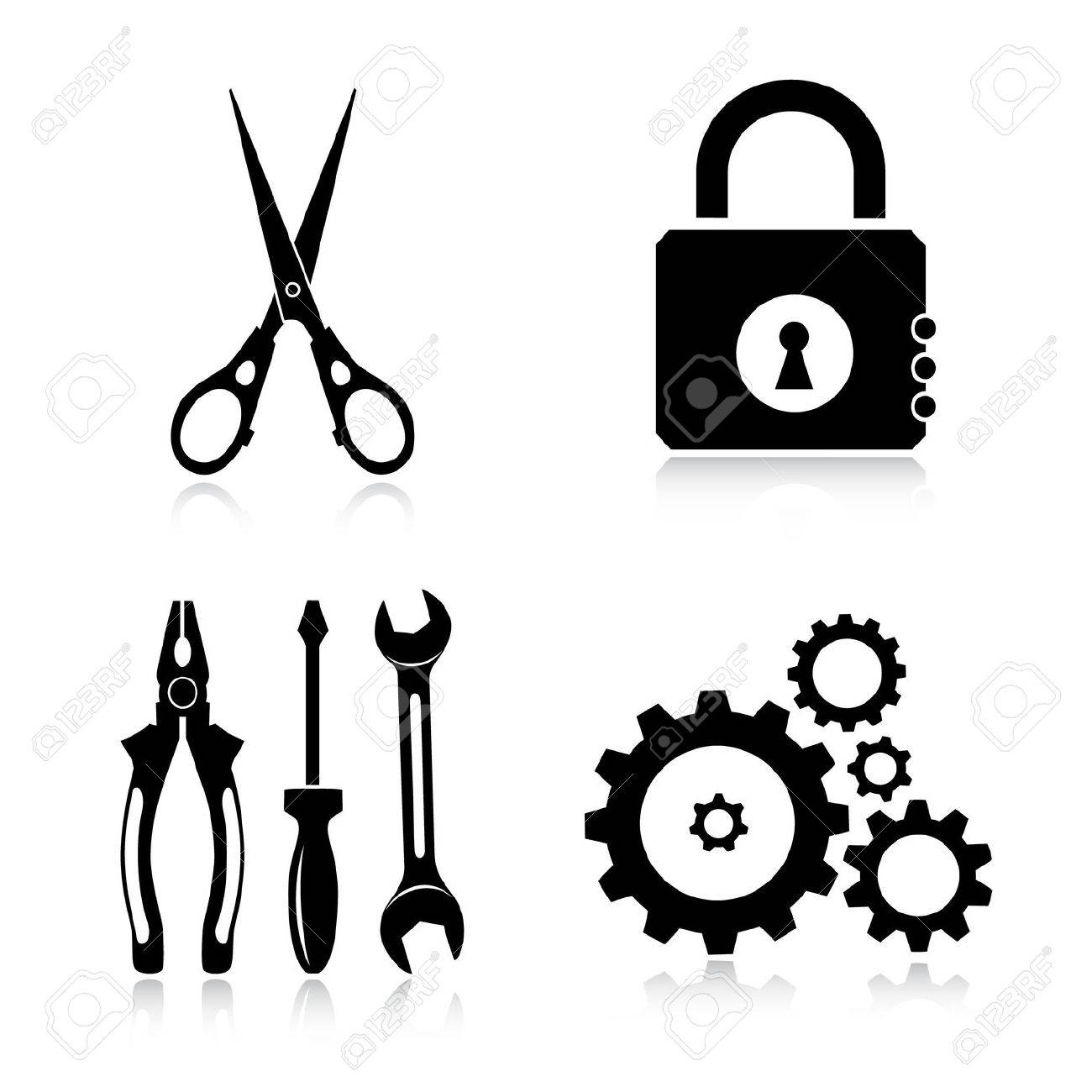 Vector tools icons Stock Vector - 4716225