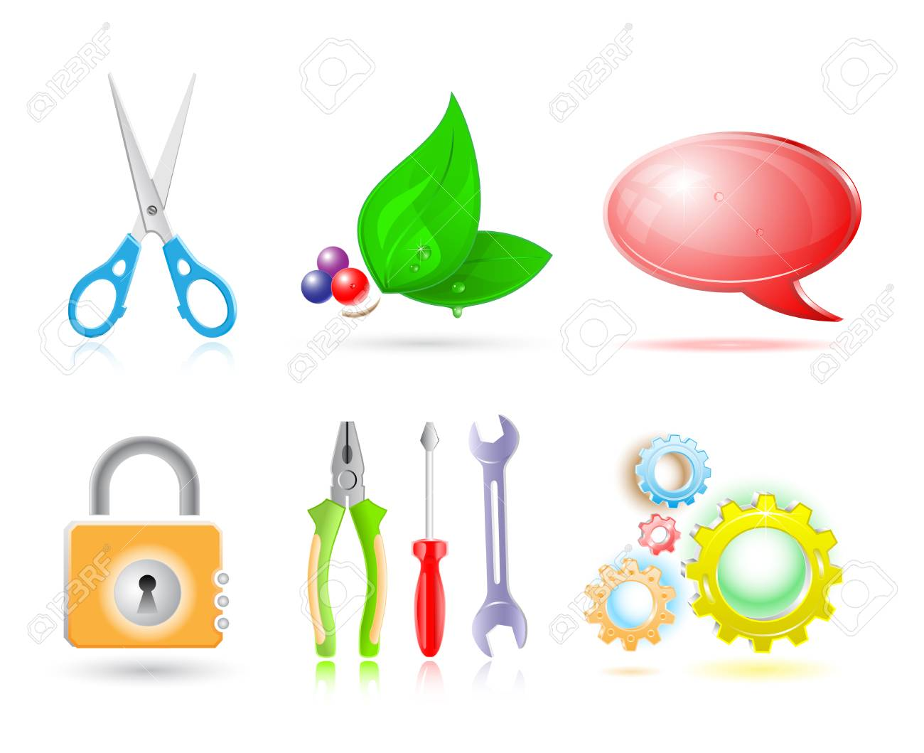 Vector 3d set of icon Stock Vector - 4812779
