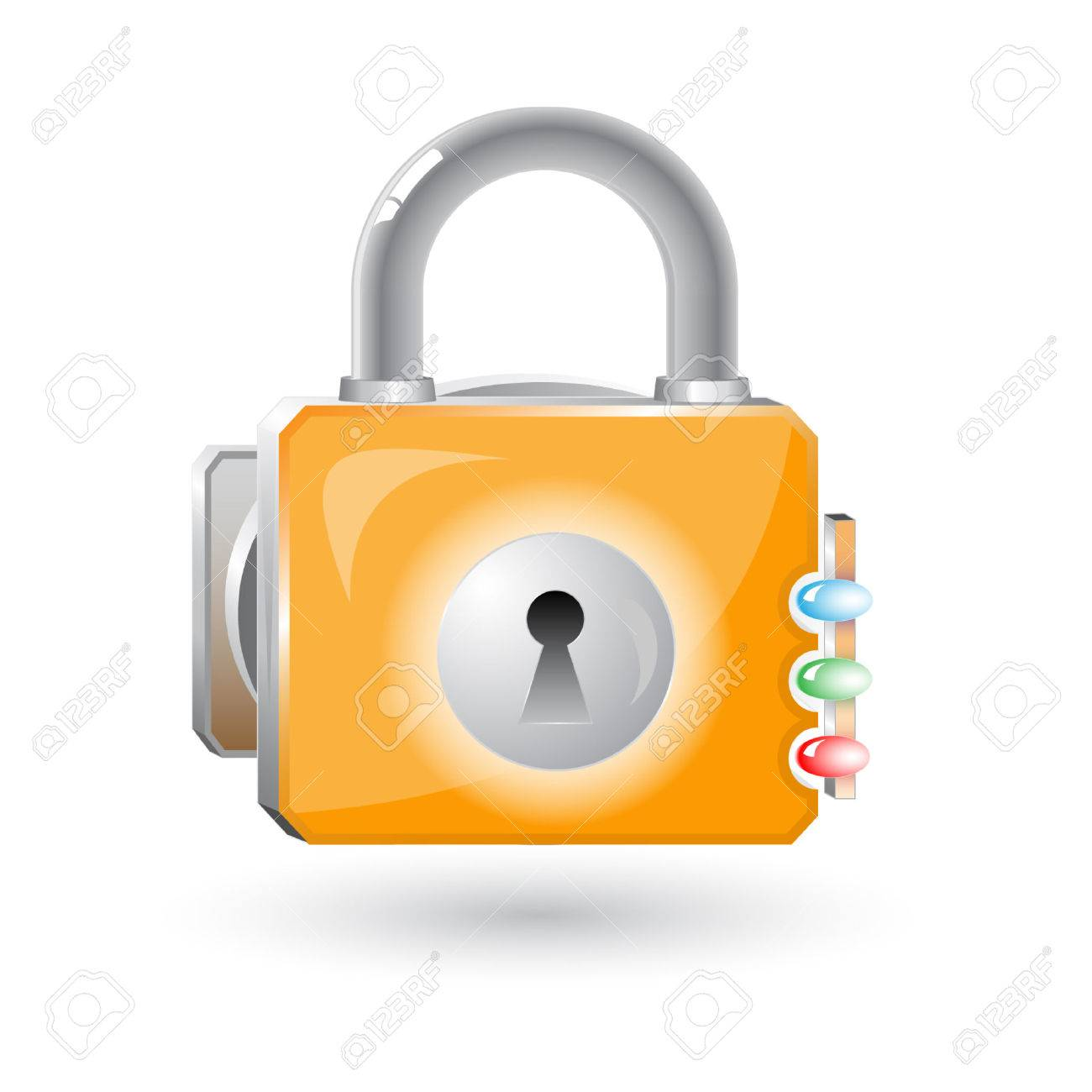 Vector 3d lock icon Stock Vector - 4812778