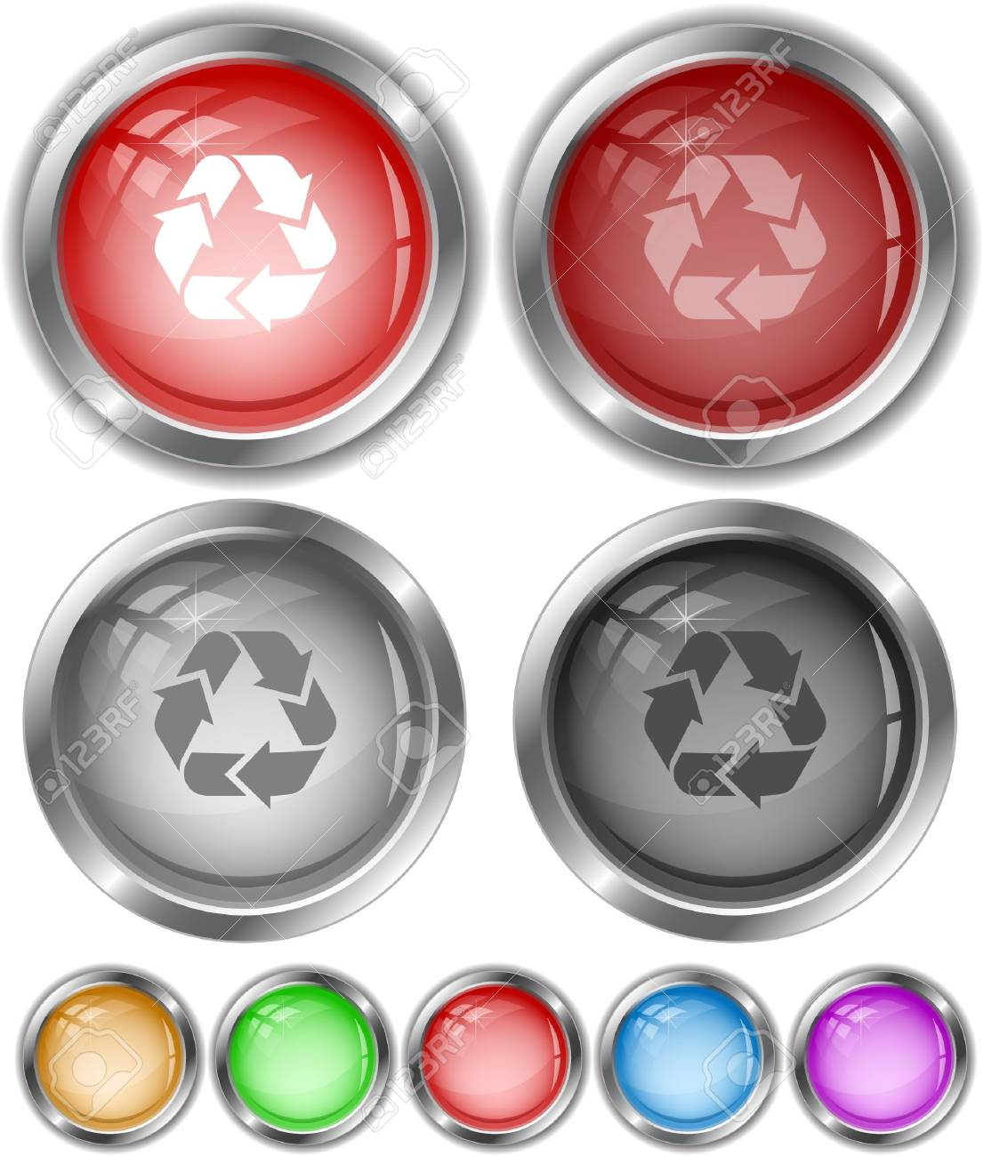Recycle symbol. internet buttons. Stock Vector - 6732602
