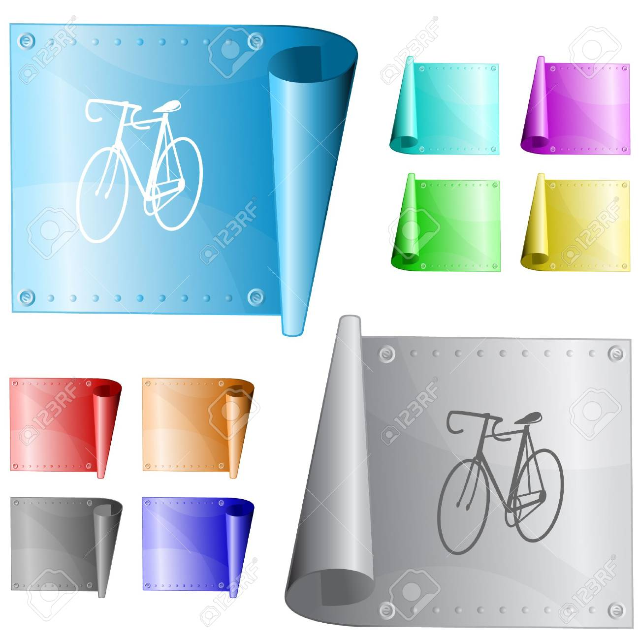 Bicycle.  metal surface. Stock Vector - 6731646