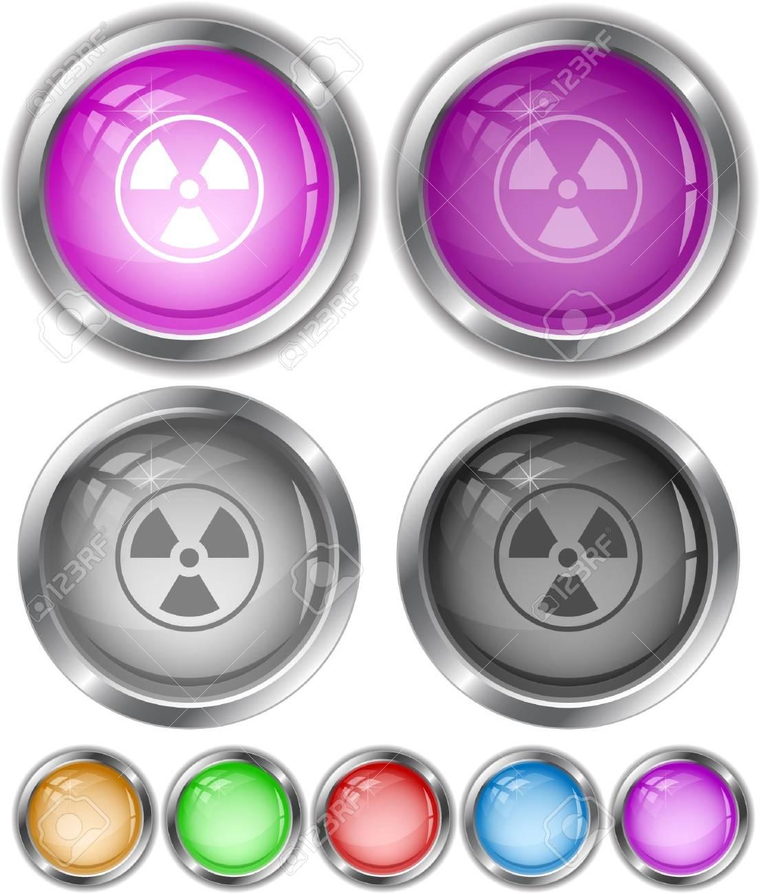 Radiation symbol.  internet buttons. Stock Vector - 6770845
