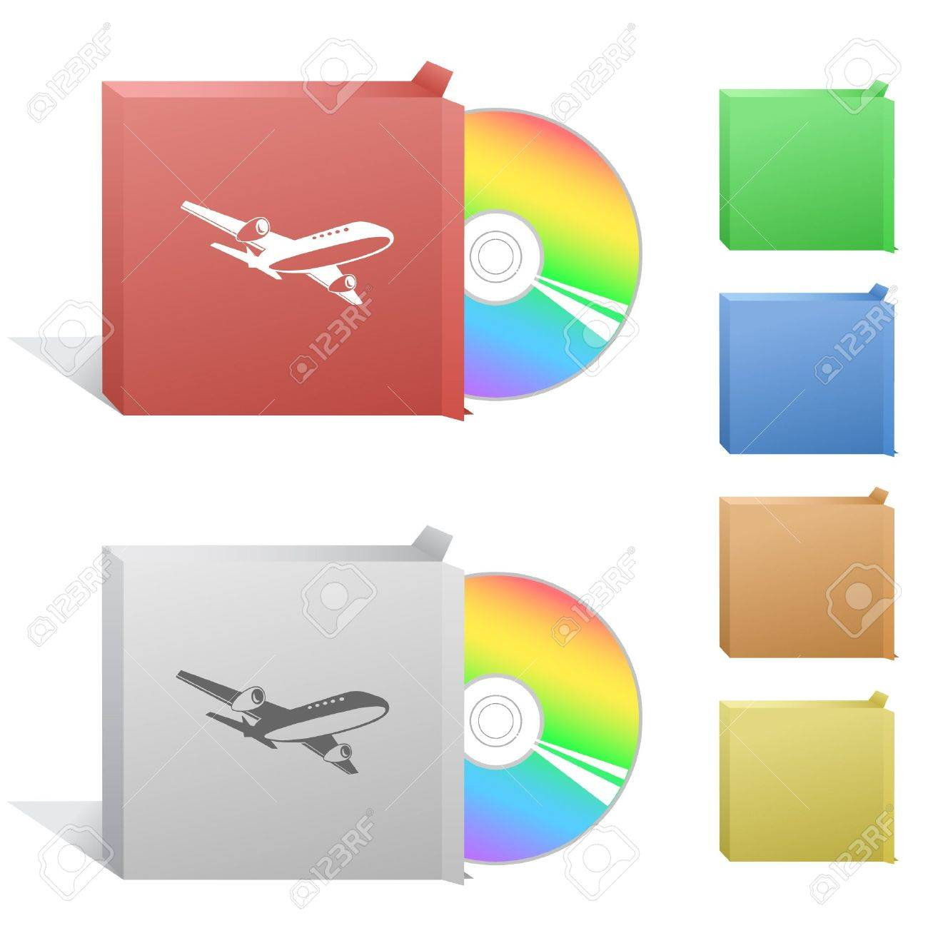 Airliner. Box with compact disc. Stock Vector - 6770820