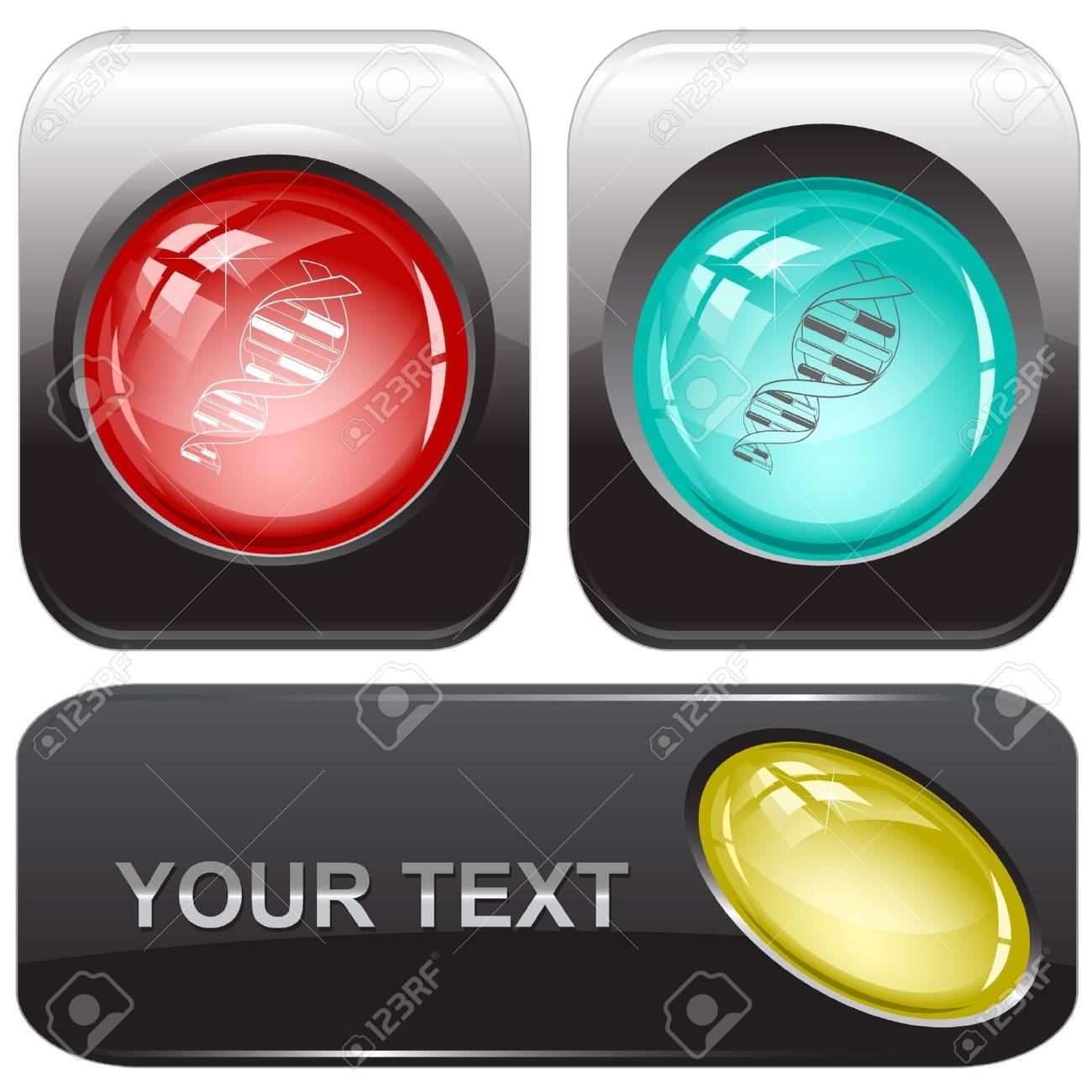 DNA.  internet buttons. Stock Vector - 6776548
