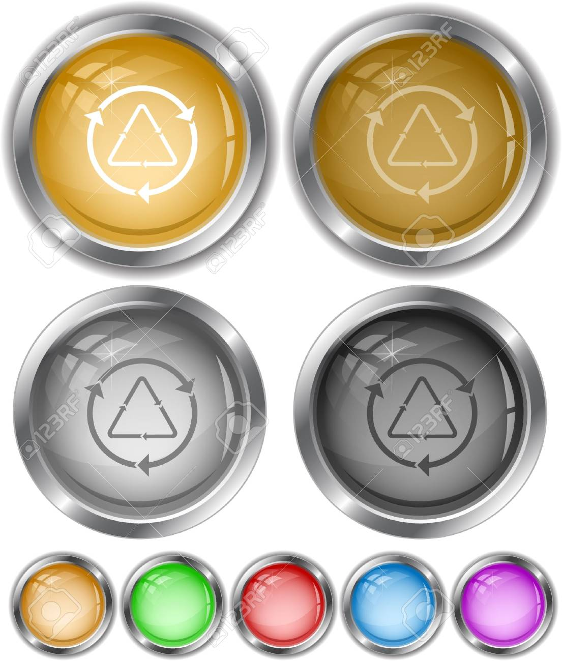 Recycle symbol.  internet buttons. Stock Vector - 6779536