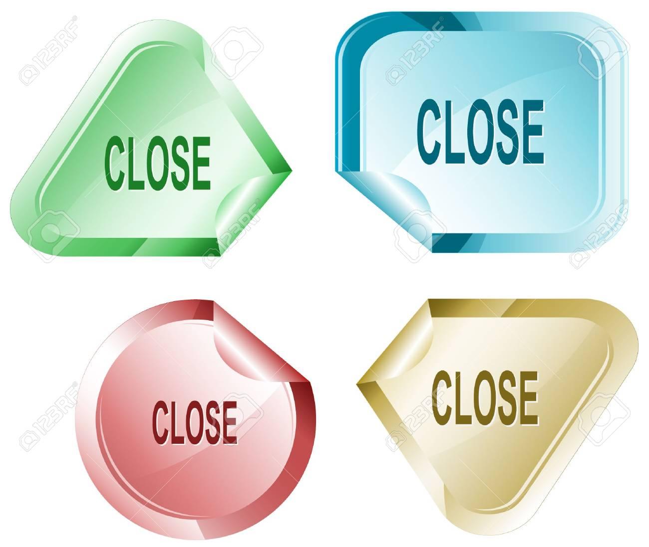 Close. sticker. Stock Vector - 6846295
