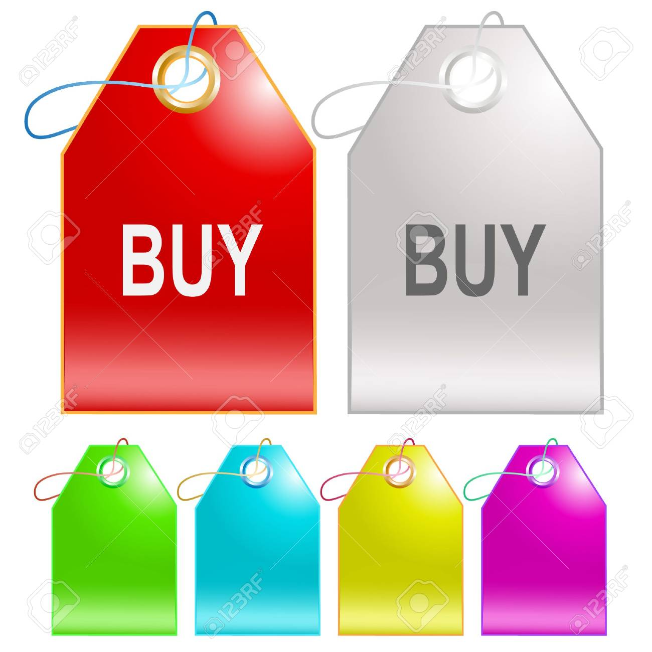 Buy. Vector tags. Stock Vector - 6846264