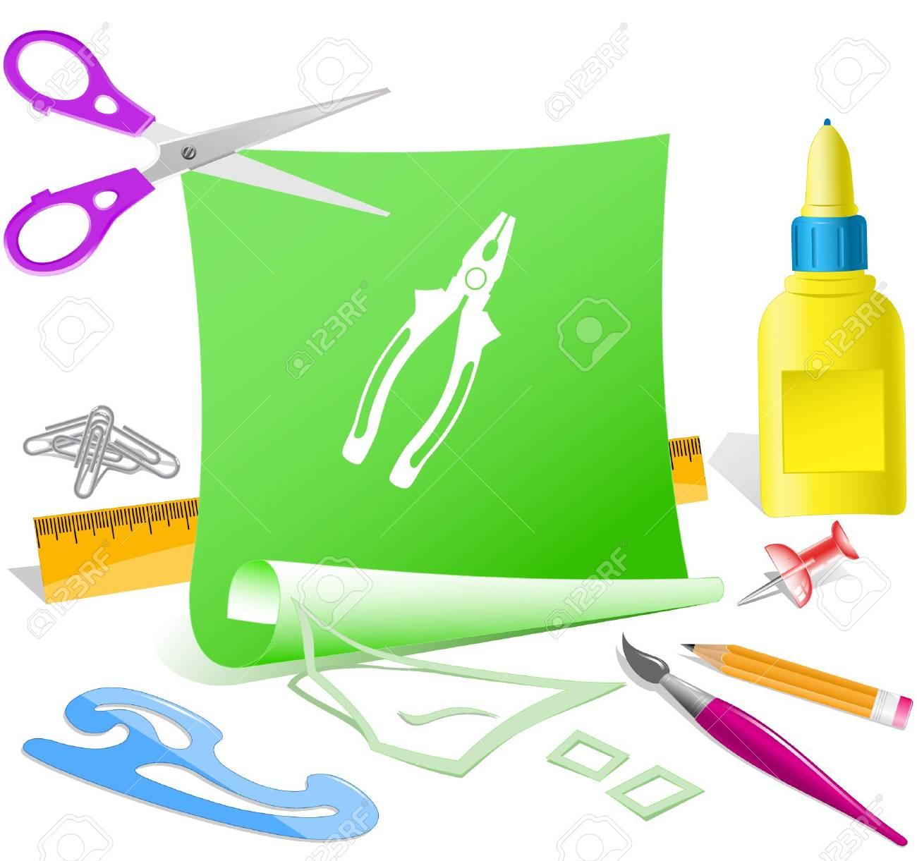 Combination pliers. Vector paper template. Stock Vector - 6846635