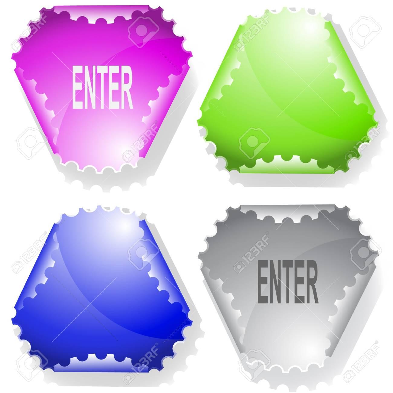 Enter. Vector sticker. Stock Vector - 6846754