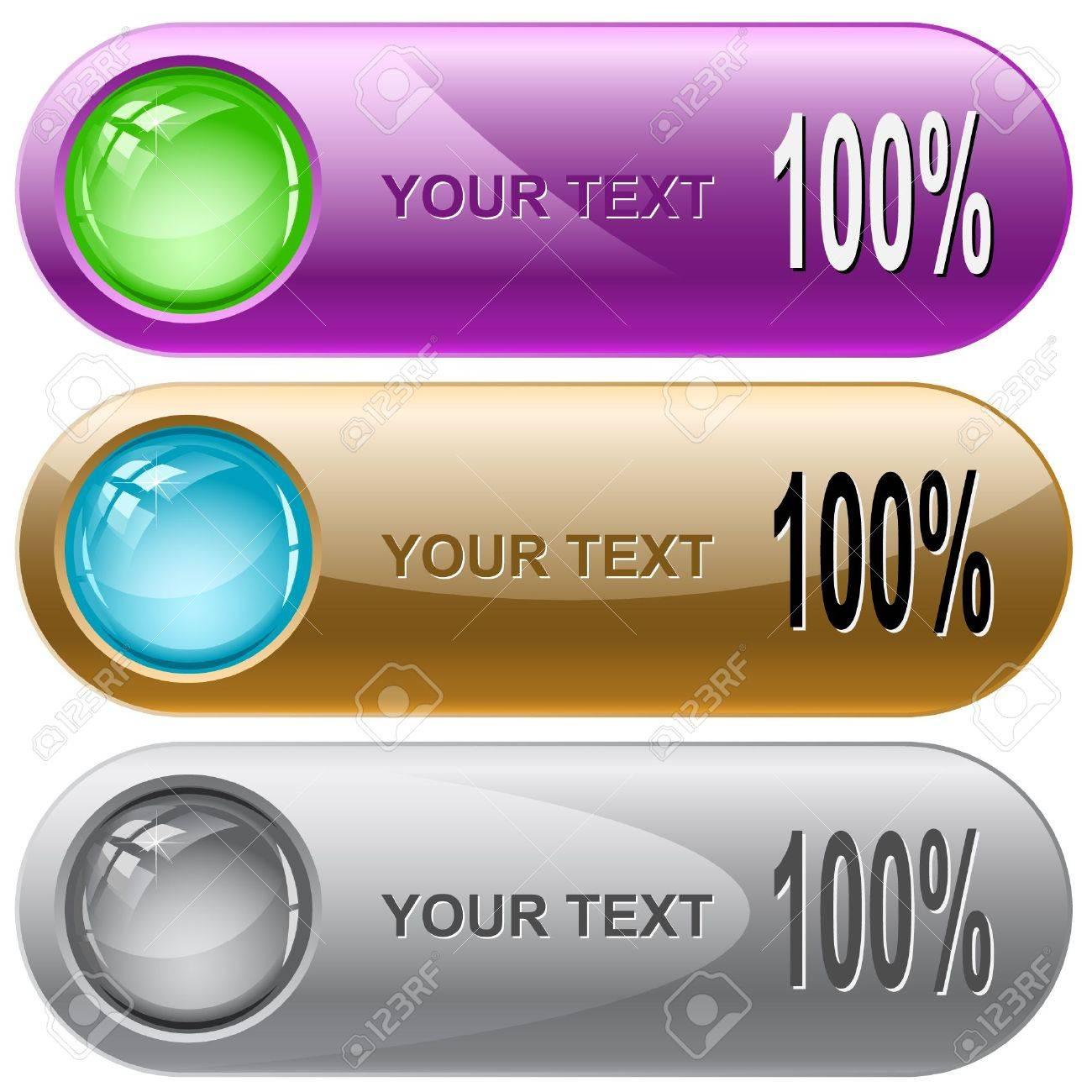 100%. Vector internet buttons. Stock Vector - 6846781
