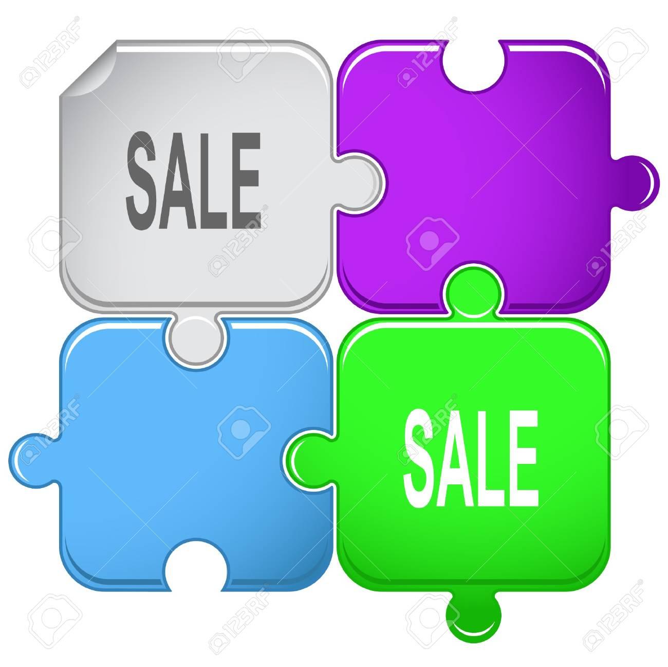 Sale. puzzle. Stock Vector - 6862217