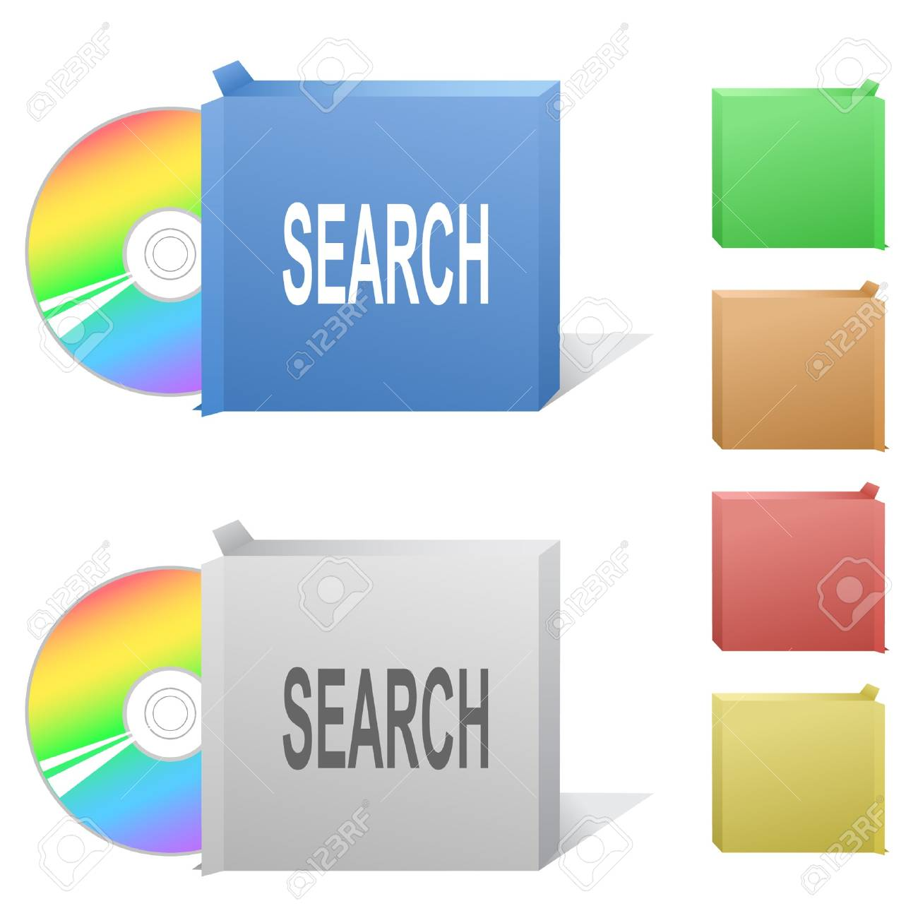 Search. Box with compact disc. Stock Vector - 6862511