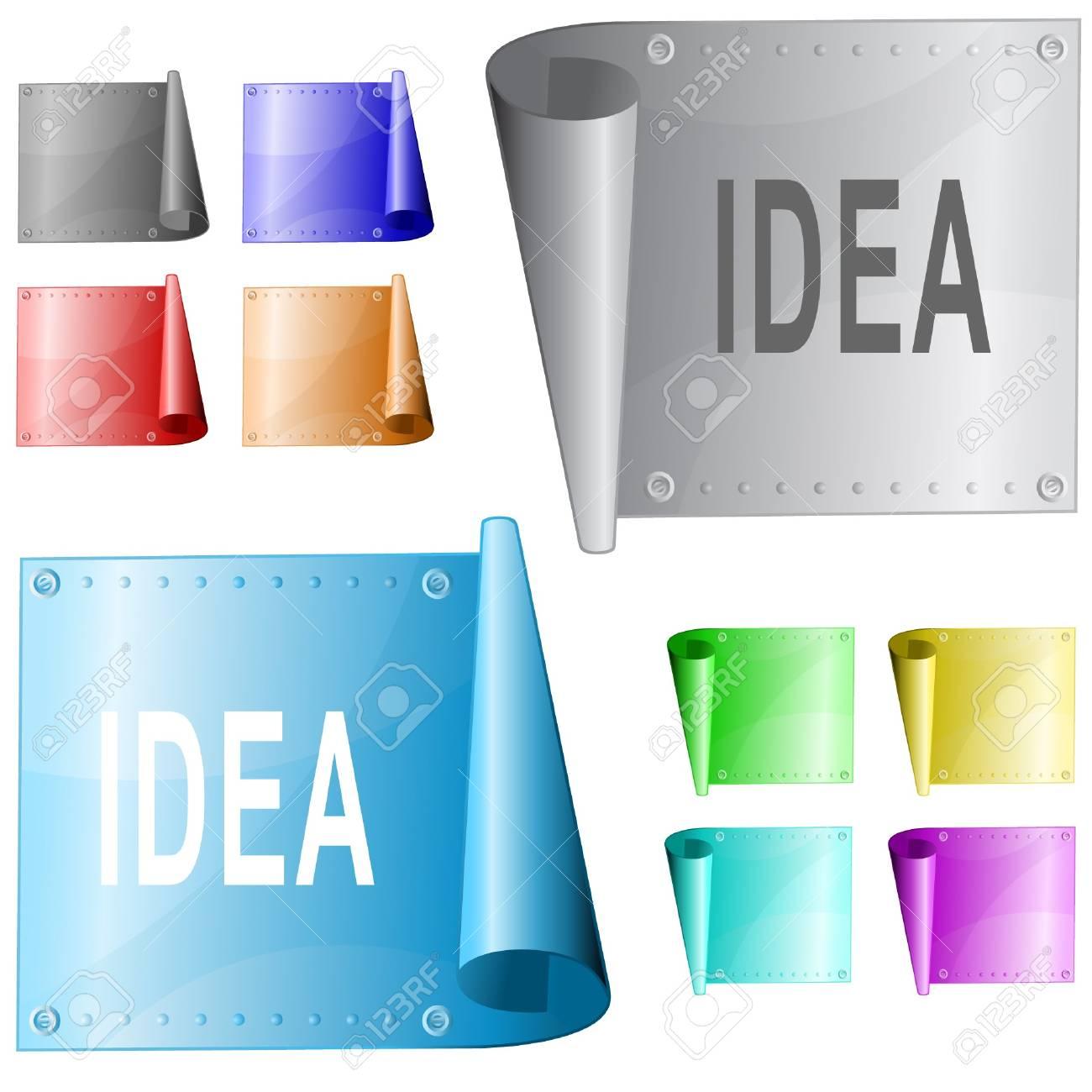 Idea.  metal surface. Stock Vector - 6863010