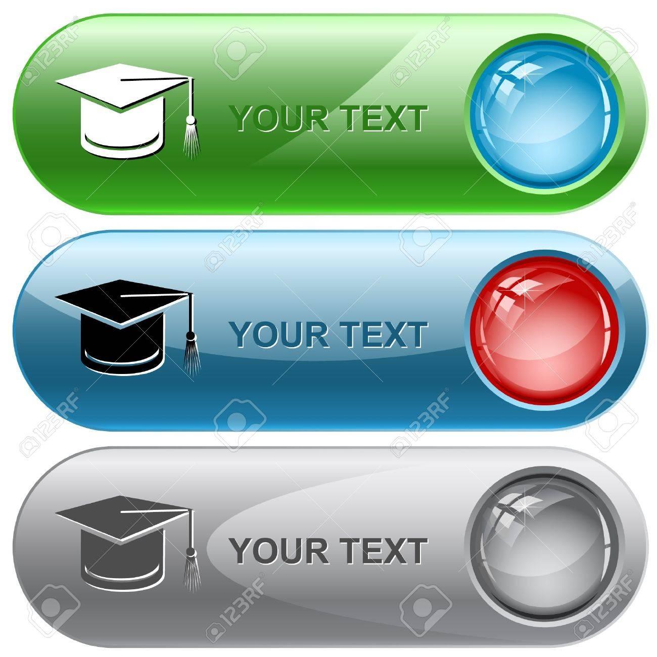 Graduation cap.  internet buttons. Stock Vector - 6986174