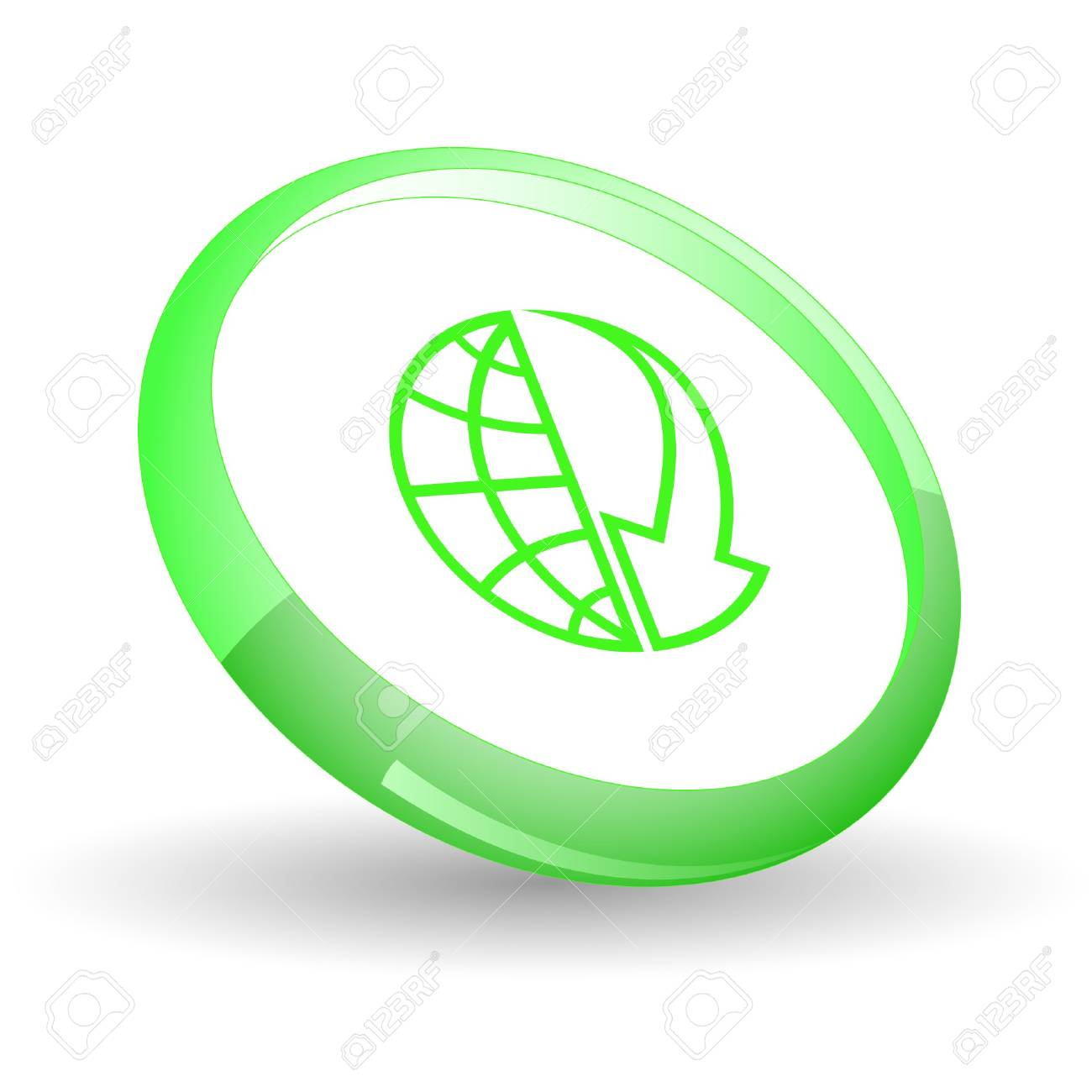Globe and array down. Stock Vector - 7169926