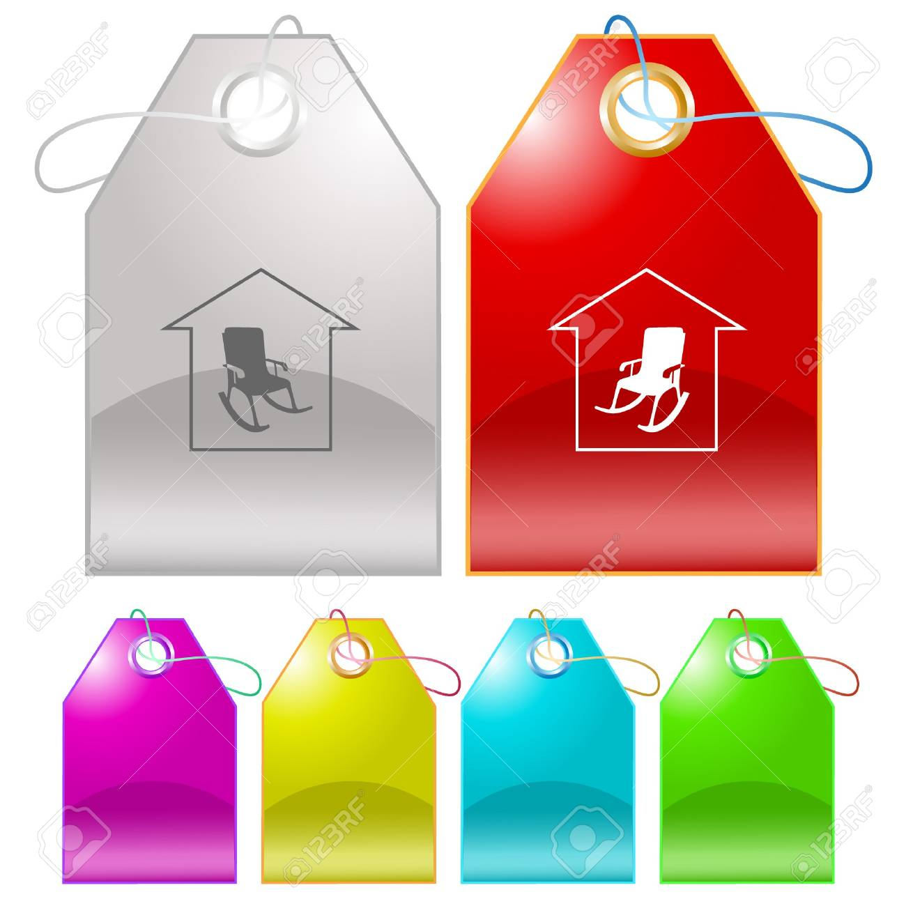 Home comfort tags. Stock Vector - 7176341