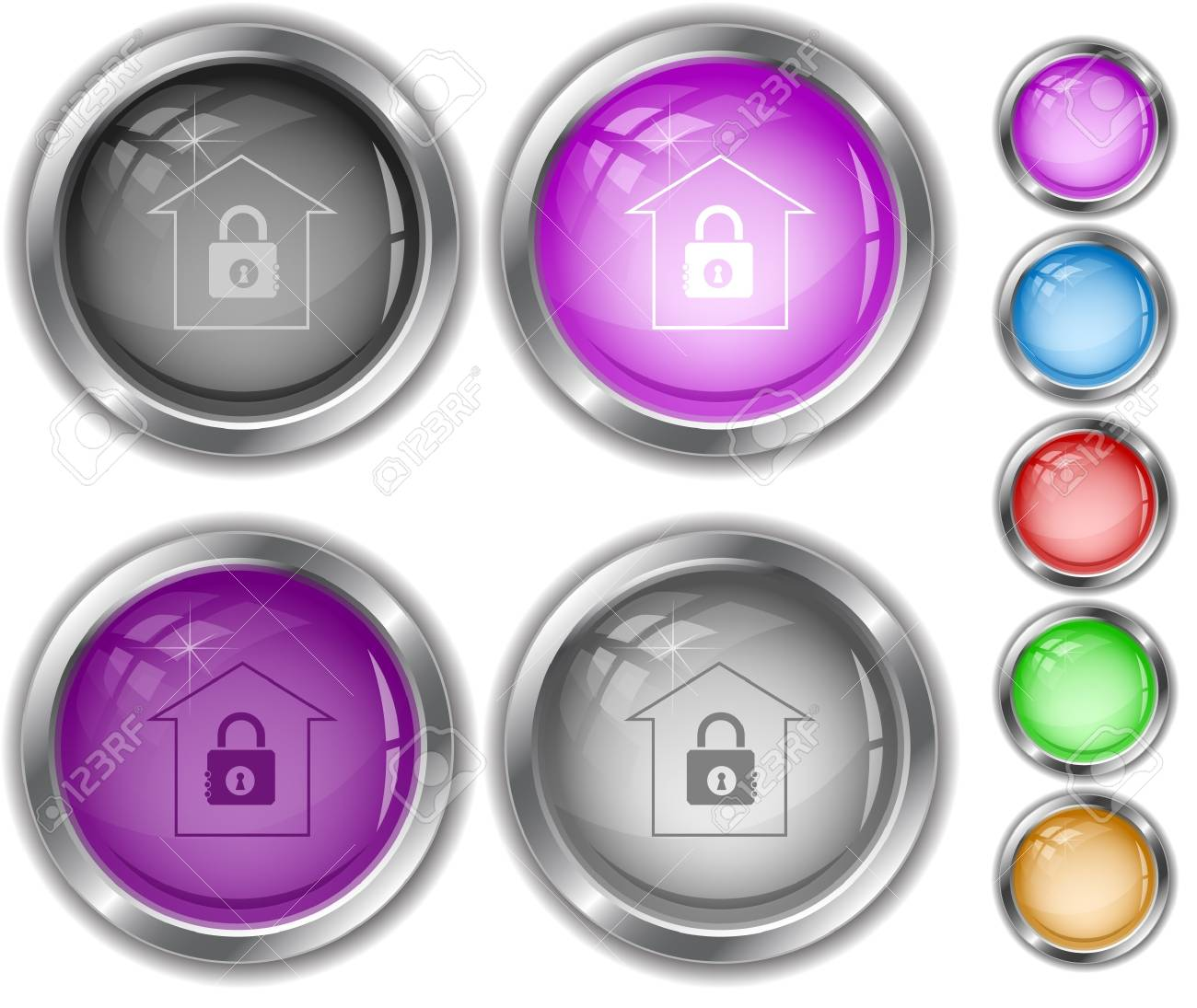 Bank internet buttons. Stock Vector - 7177493