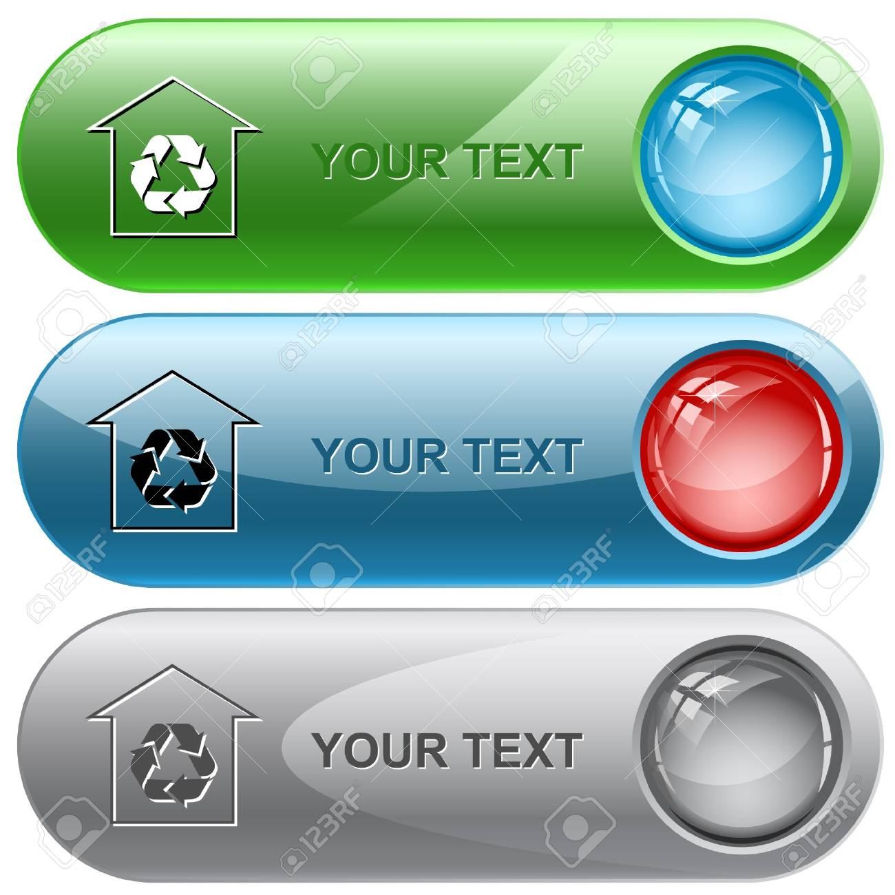 Protection of nature internet buttons. Stock Vector - 7176724
